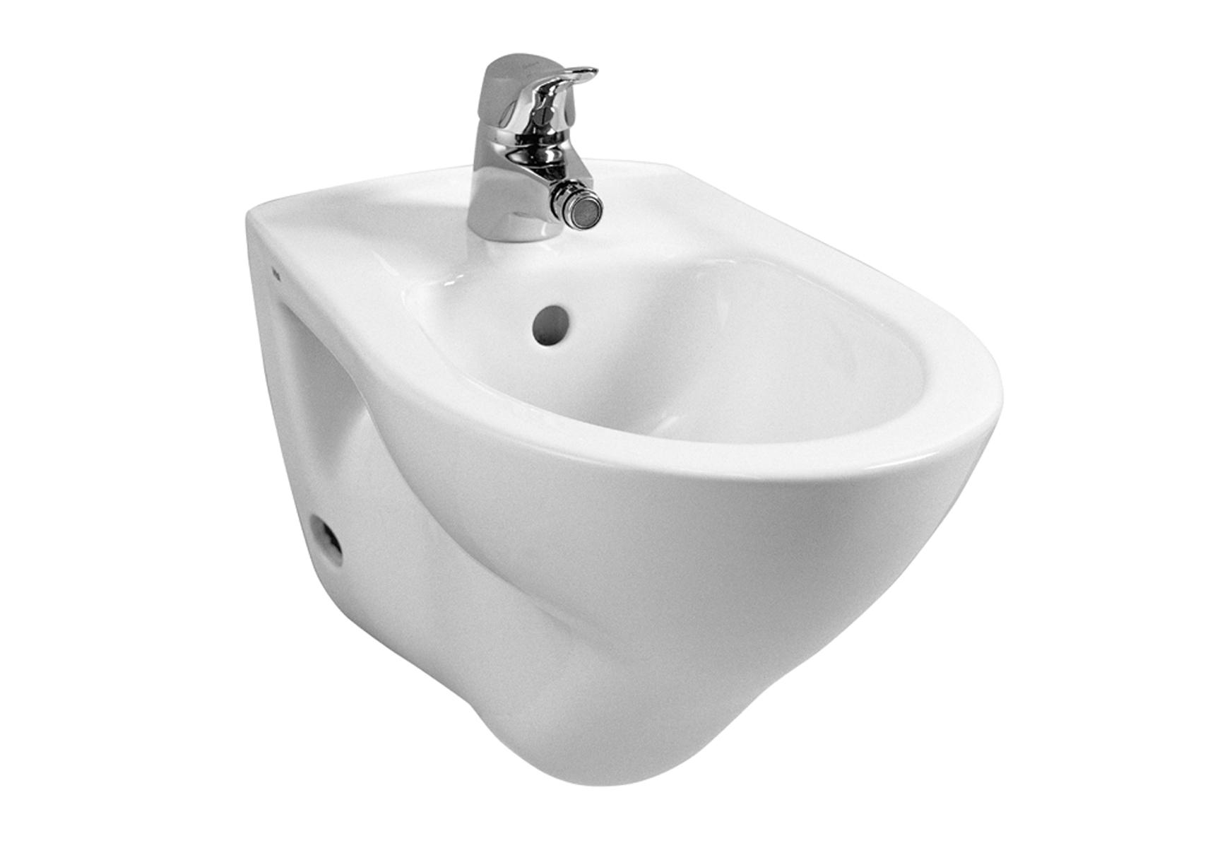 Arkitekt bidet suspendu, avec trop-plein, 1 trou de robinet central, 52 cm