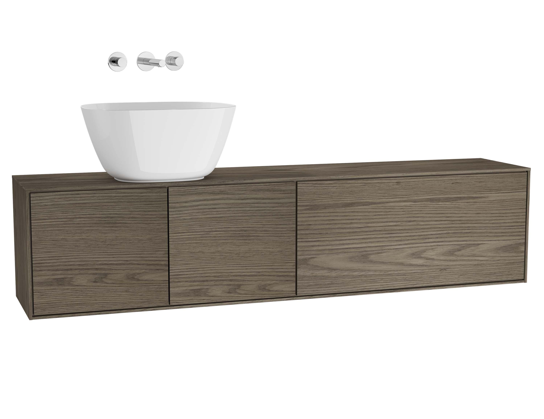 Voyage meuble sous vasque à poser, 160 cm, cordoba / taupe, gauche