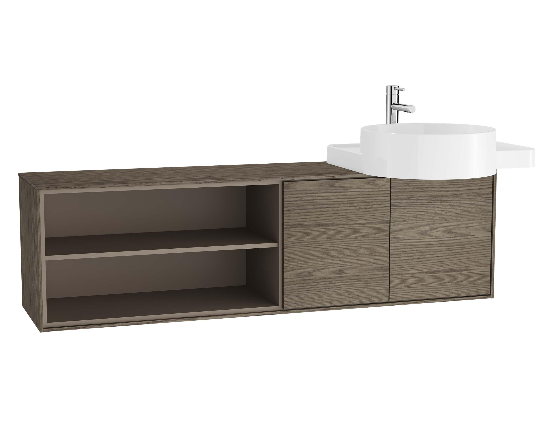 Voyage meuble sous vasque, 130 cm, cordoba / taupe, droite