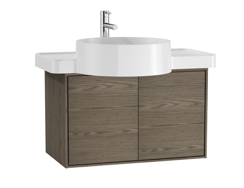Voyage meuble sous vasque, 60 cm, cordoba / taupe