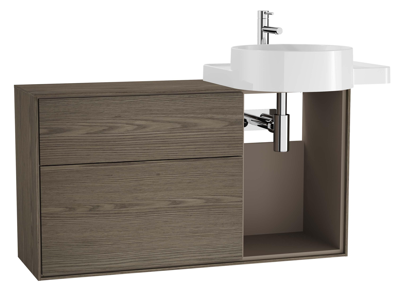 Voyage meuble sous vasque, 100 cm, cordoba / taupe, droite