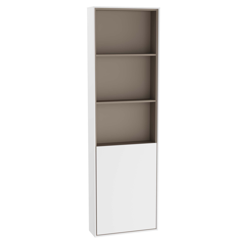 Voyage armoire haute, 45 cm, blanc mat / taupe, gauche