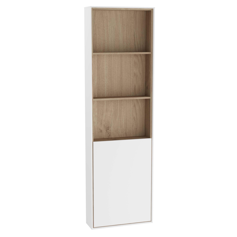 Voyage armoire haute, 45 cm, blanc mat / chêne naturel, droite