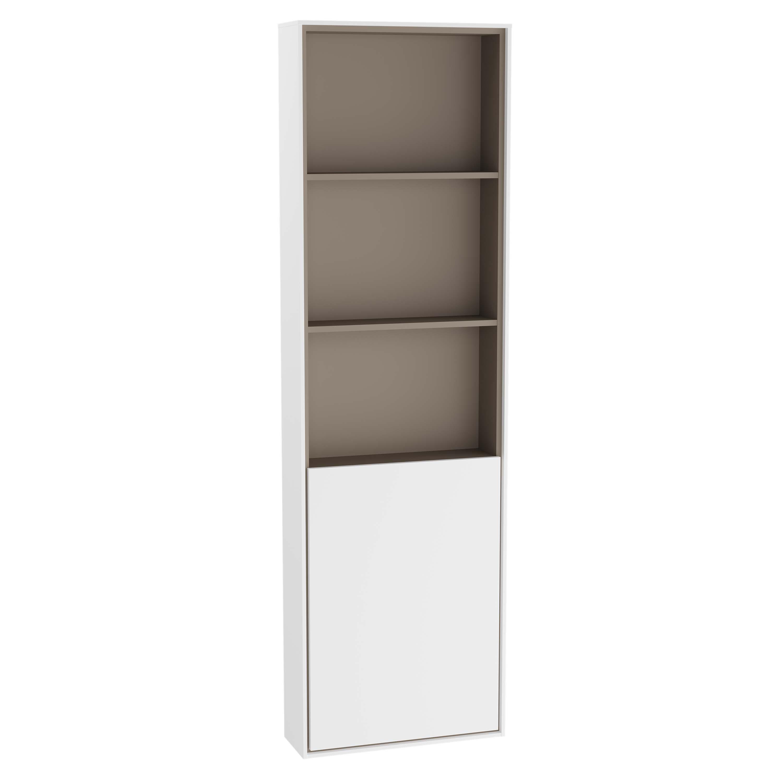 Voyage armoire haute, 45 cm, blanc mat / taupe, droite