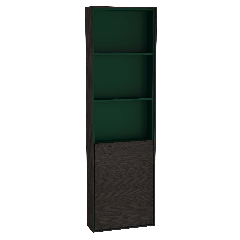 Voyage armoire haute, 45 cm, gris flambé / vert forêt, droite
