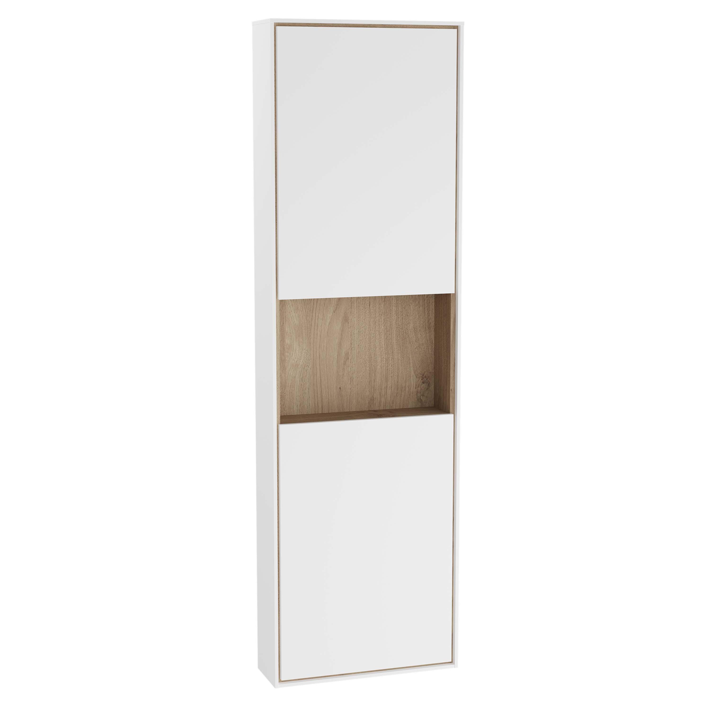Voyage armoire haute, 45 cm, blanc mat / chêne naturel, gauche