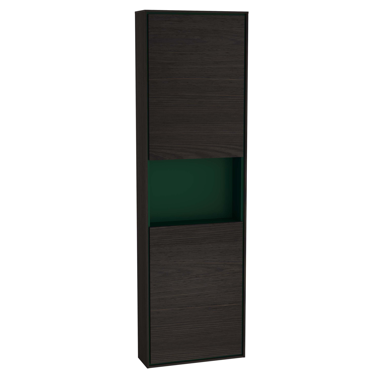 Voyage armoire haute, 45 cm, gris flambé / vert forêt, gauche