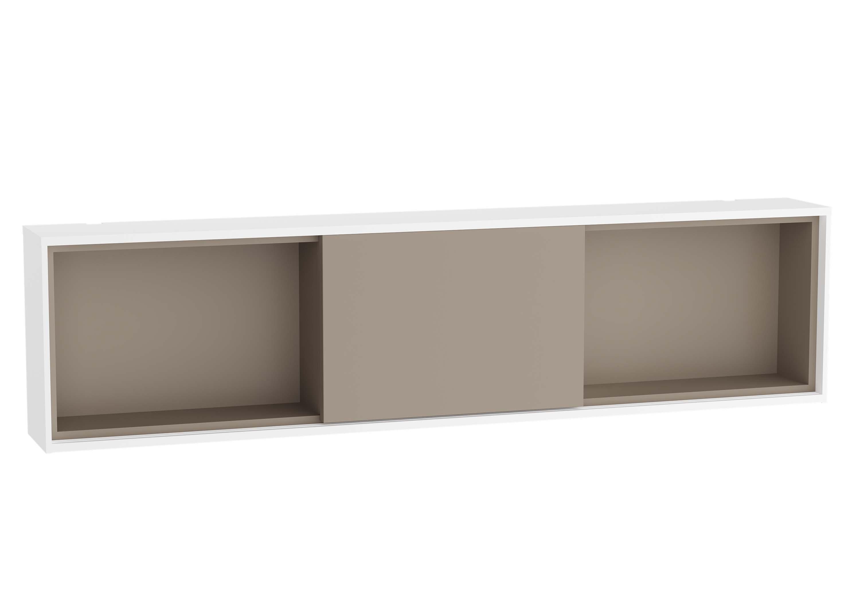 Voyage module horizontal, 120 cm, blanc mat / taupe