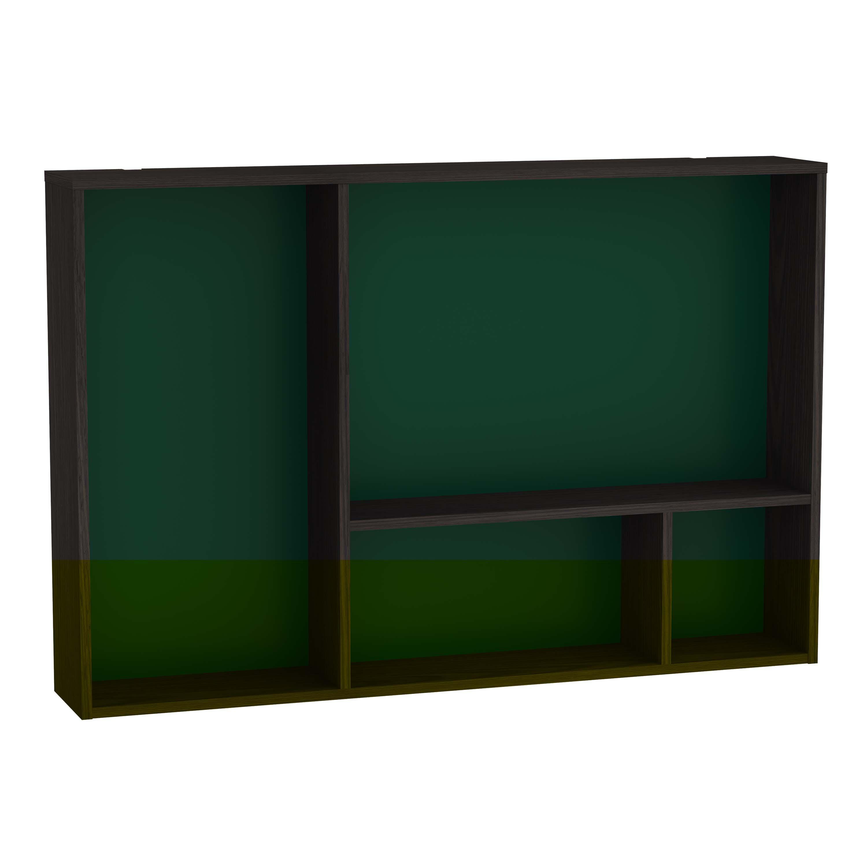 Voyage caisson, 90 cm, gris flambé / vert forêt