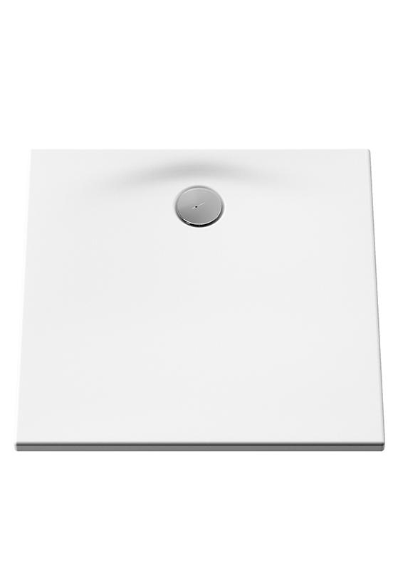 Smooth Duschwanne, 80 x 80 cm, Weiß Antislip