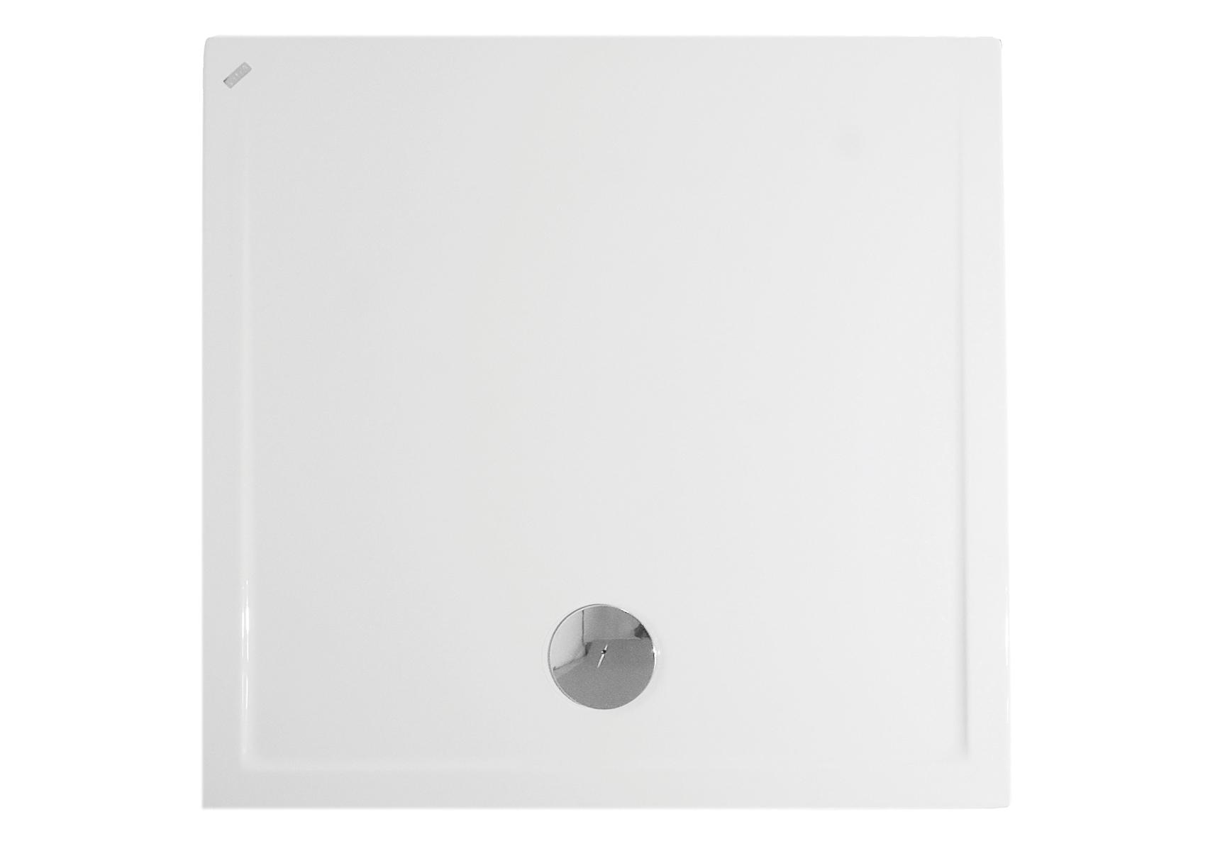 Fit receveur ultra plat en acrylique, 3,2 mm, à poser, carré, 90  x  90 cm