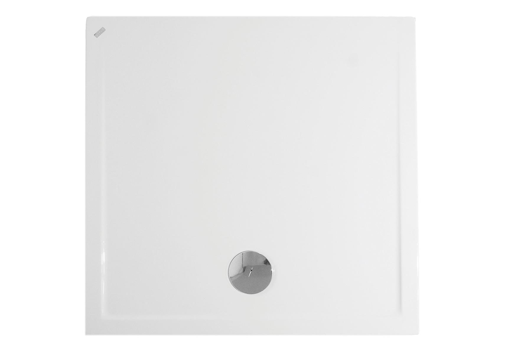 Fit receveur ultra plat en acrylique, 3,2 mm, à poser, carré, 90  x  90 cm, VitrA Antislip
