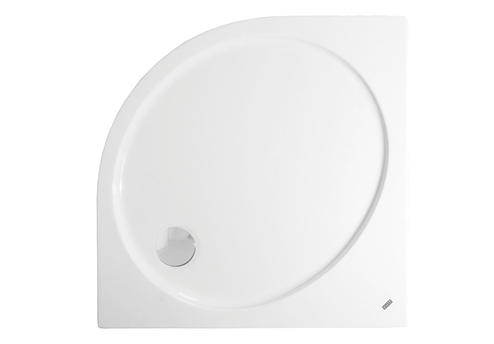 Fit receveur ultra plat en acrylique, 3,2 mm, à poser, quart de rond, 90  x  90 cm
