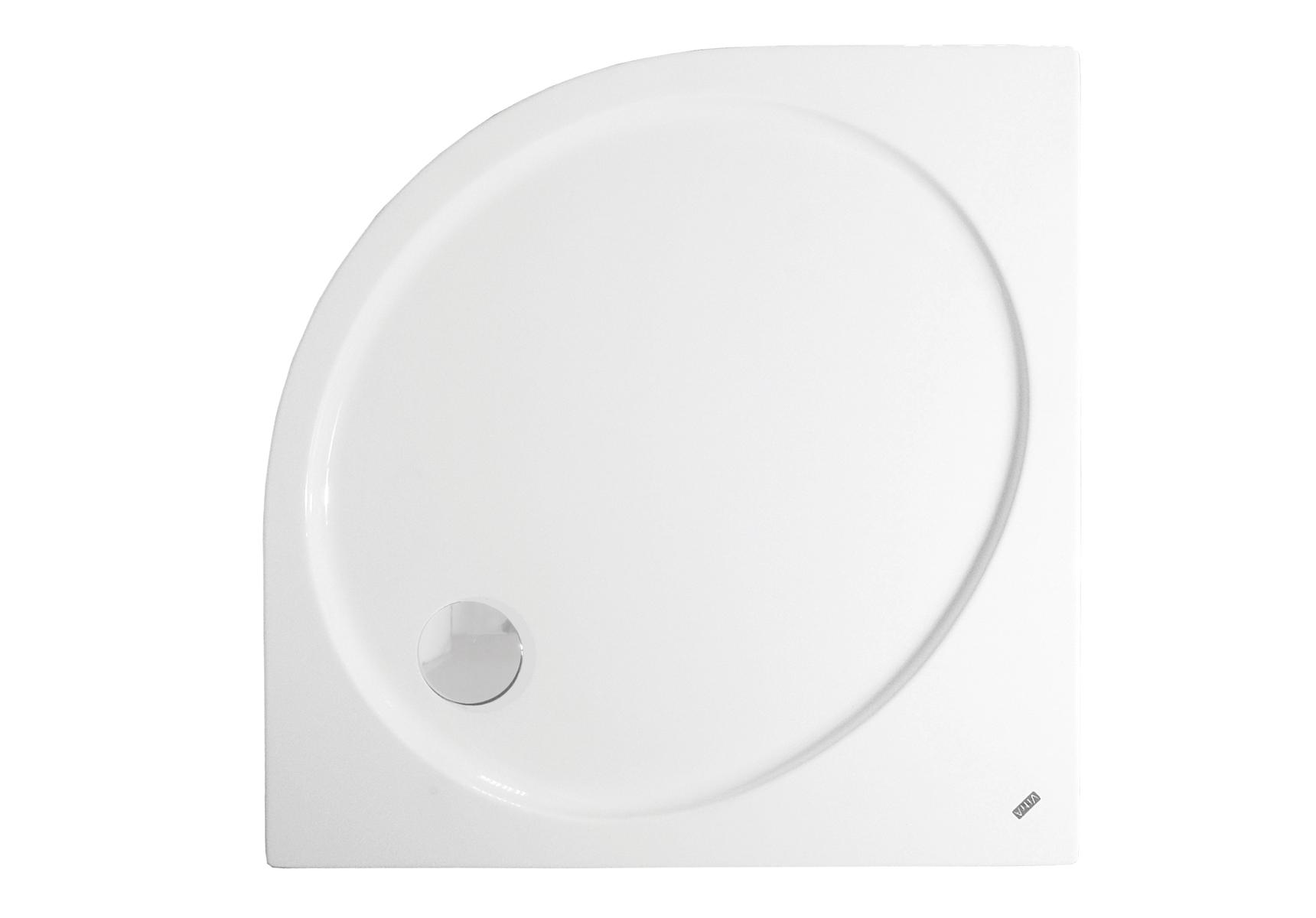 Fit receveur ultra plat en acrylique, 3,2 mm, à poser, quart de rond, 90  x  90 cm, VitrA Antislip