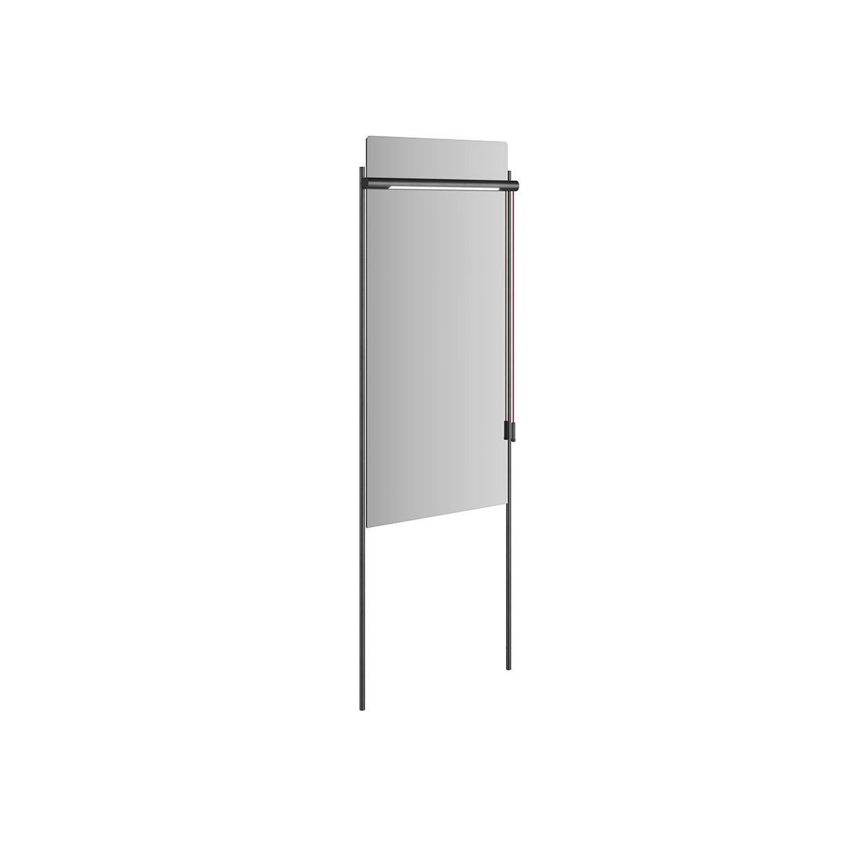 Equal Spiegel mit Beleuchtung und Metallrahmen, 46 cm