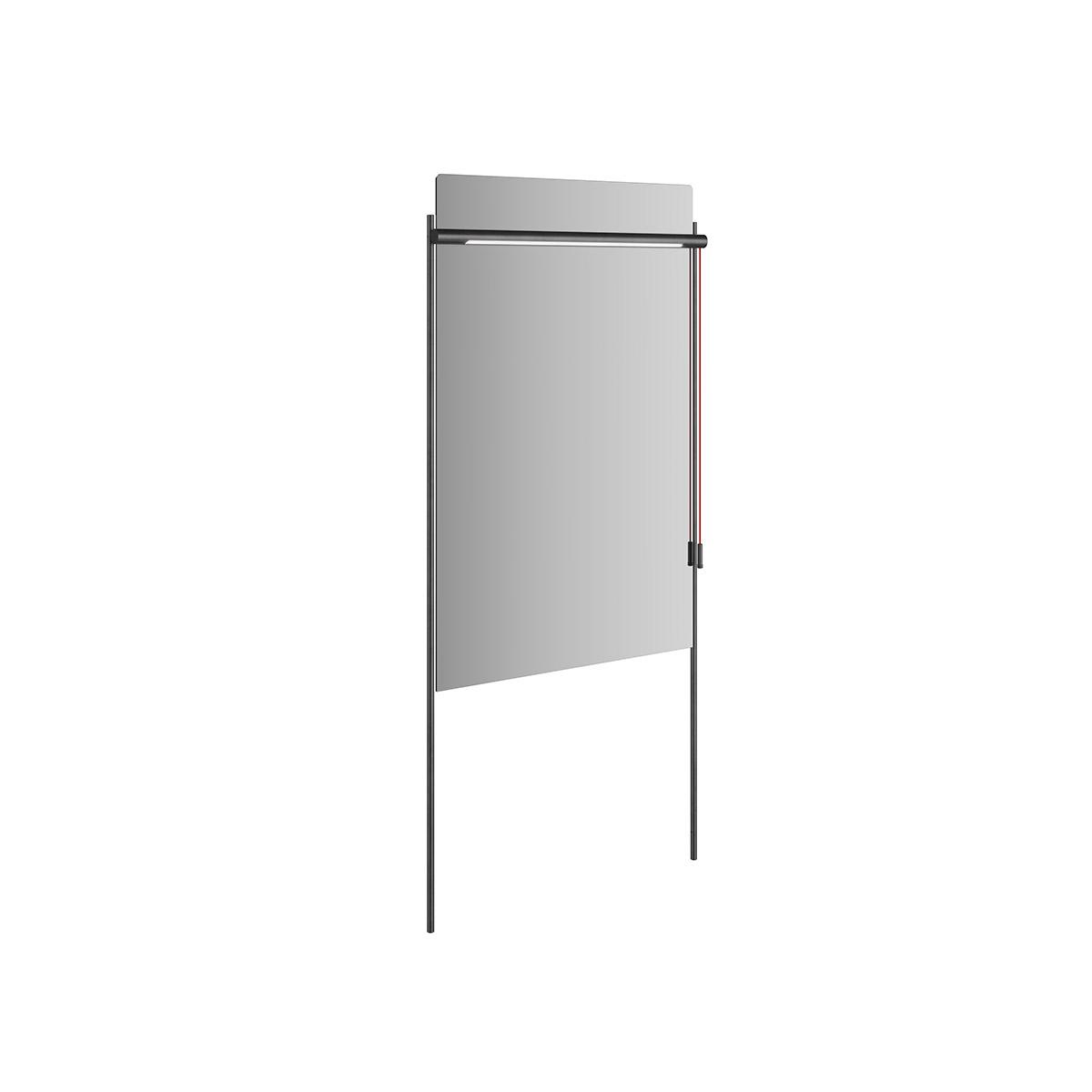 Equal Spiegel mit Beleuchtung und Metallrahmen, 63 cm
