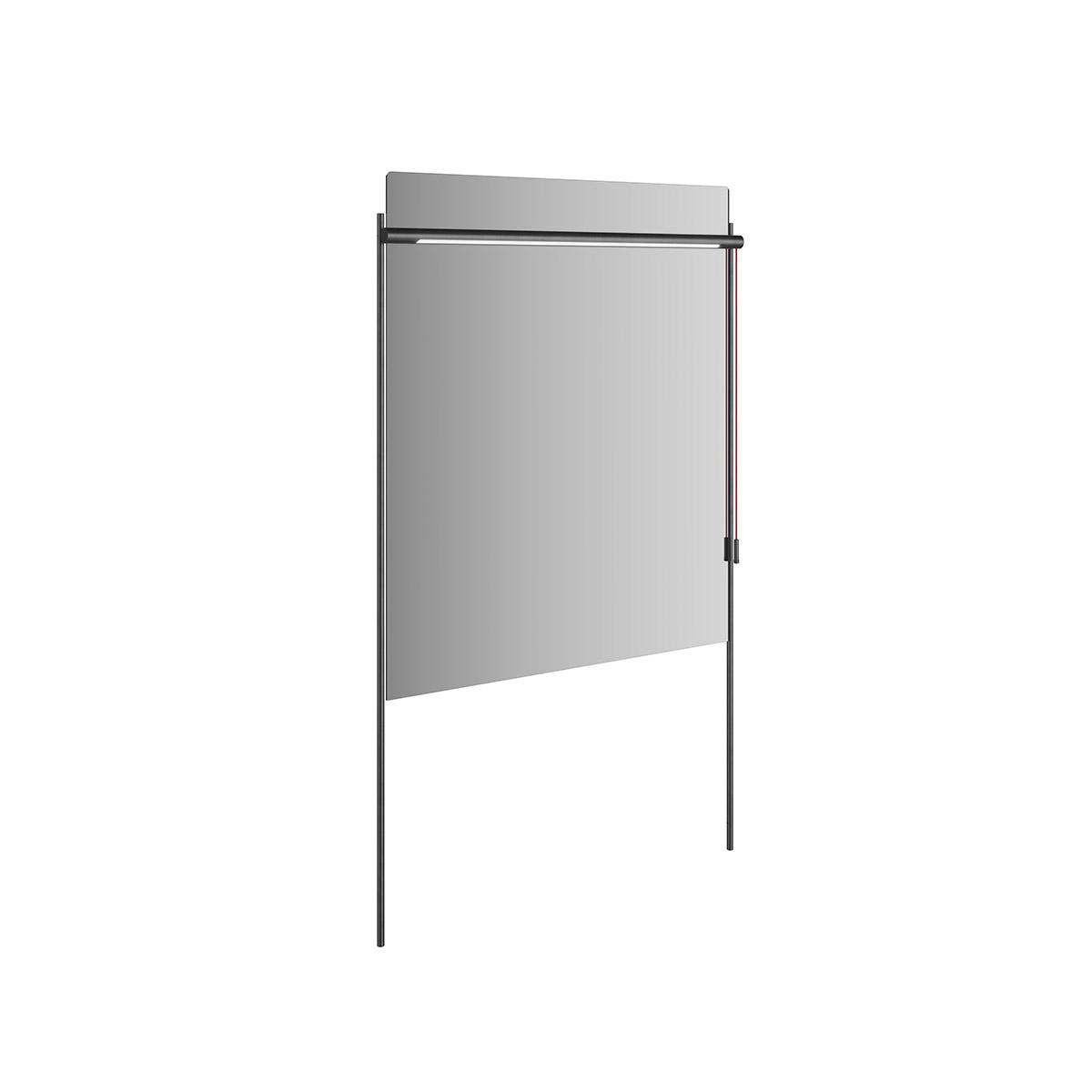 Equal Spiegel mit Beleuchtung und Metallrahmen, 84 cm