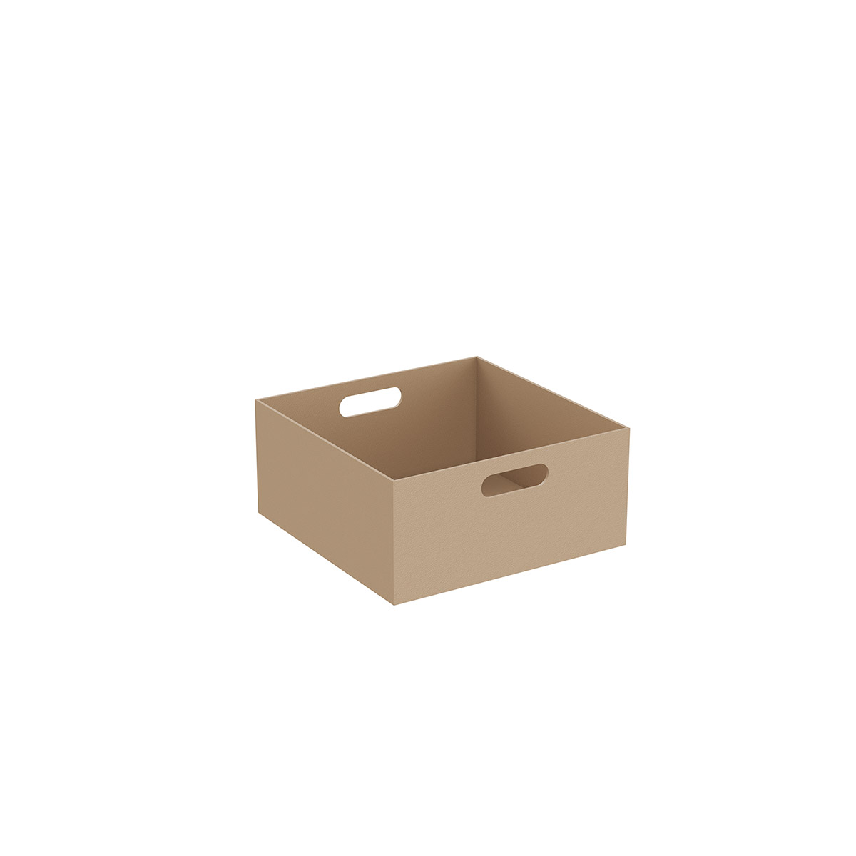 Equal kleine Box, 35 cm, Leder Beige