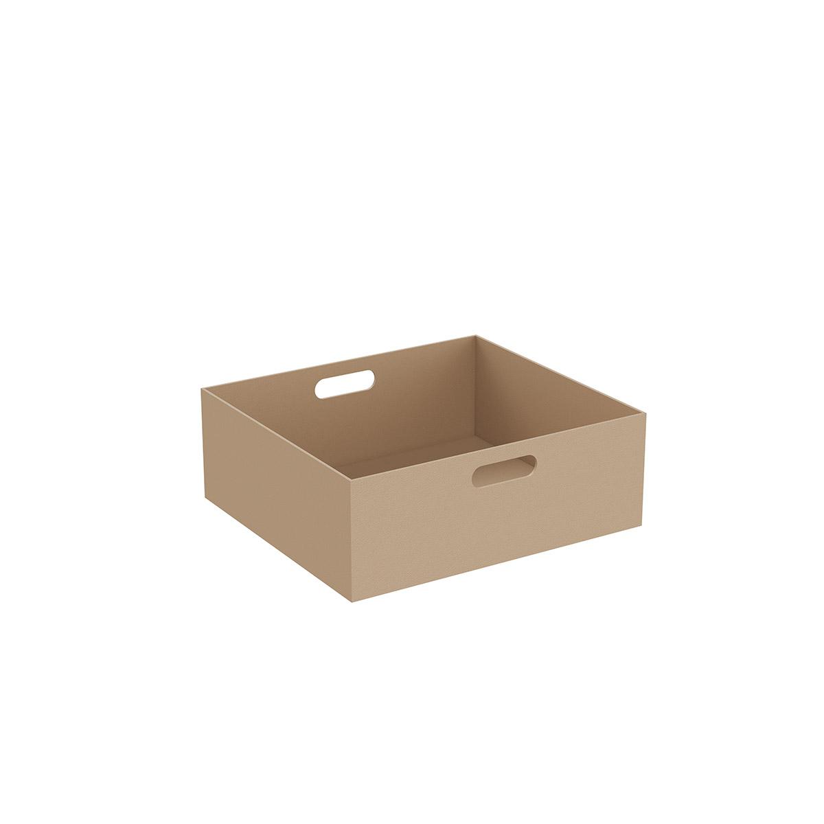 Equal große Box, 45 cm, Leder Beige