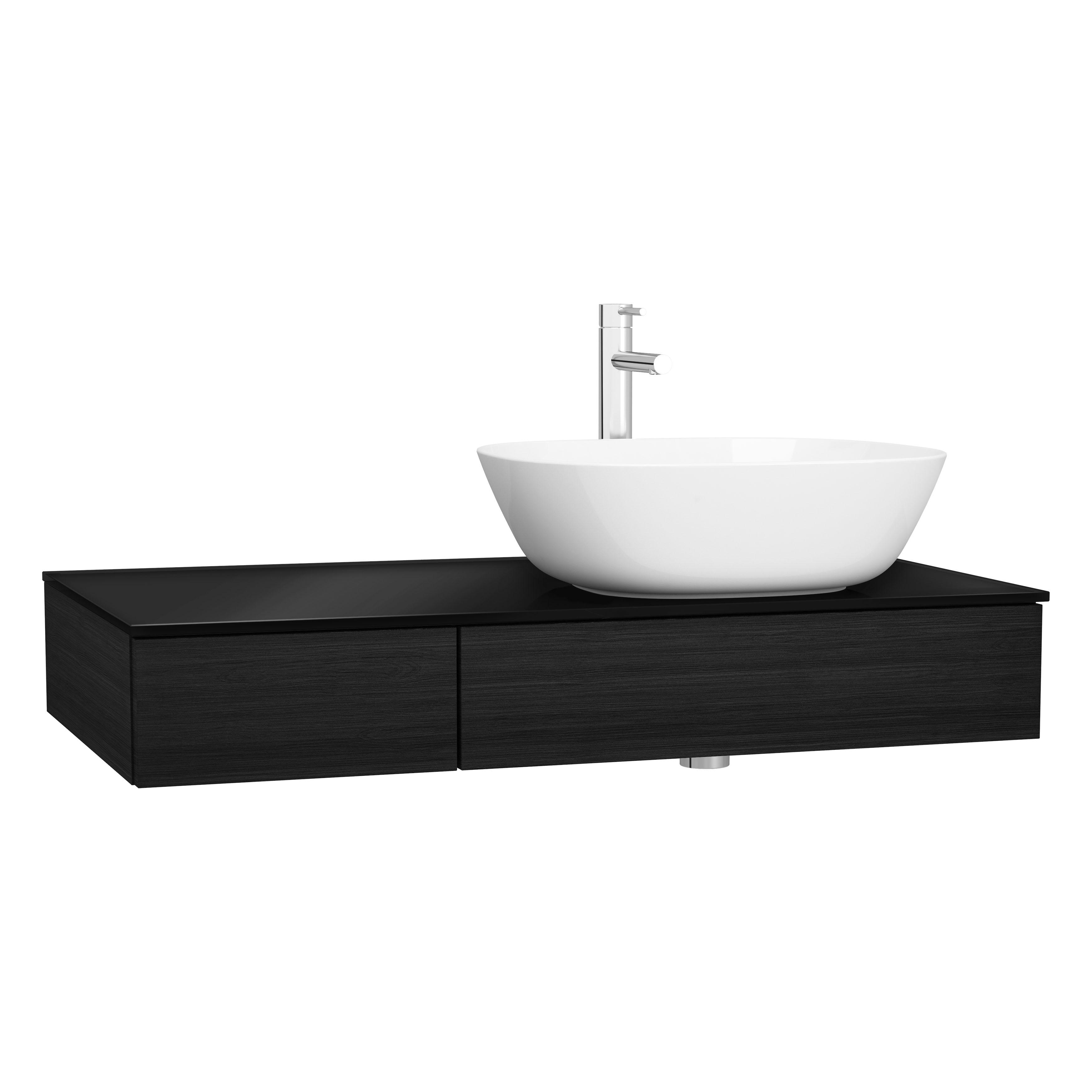 Origin plan de toilette avec tiroir, 90 cm, chêne noir structure, droite