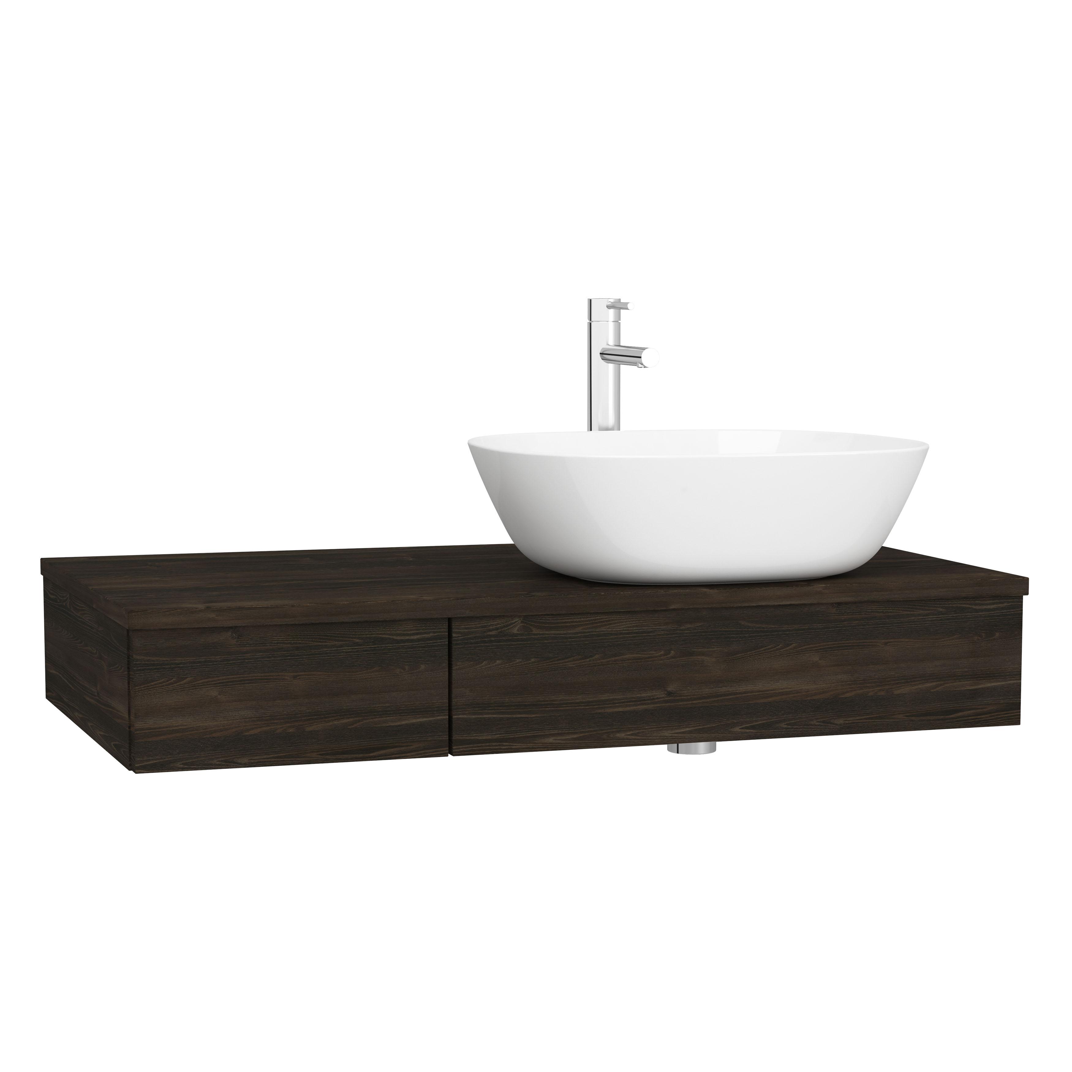 Origin plan de toilette avec tiroir, 90 cm, orme, droite