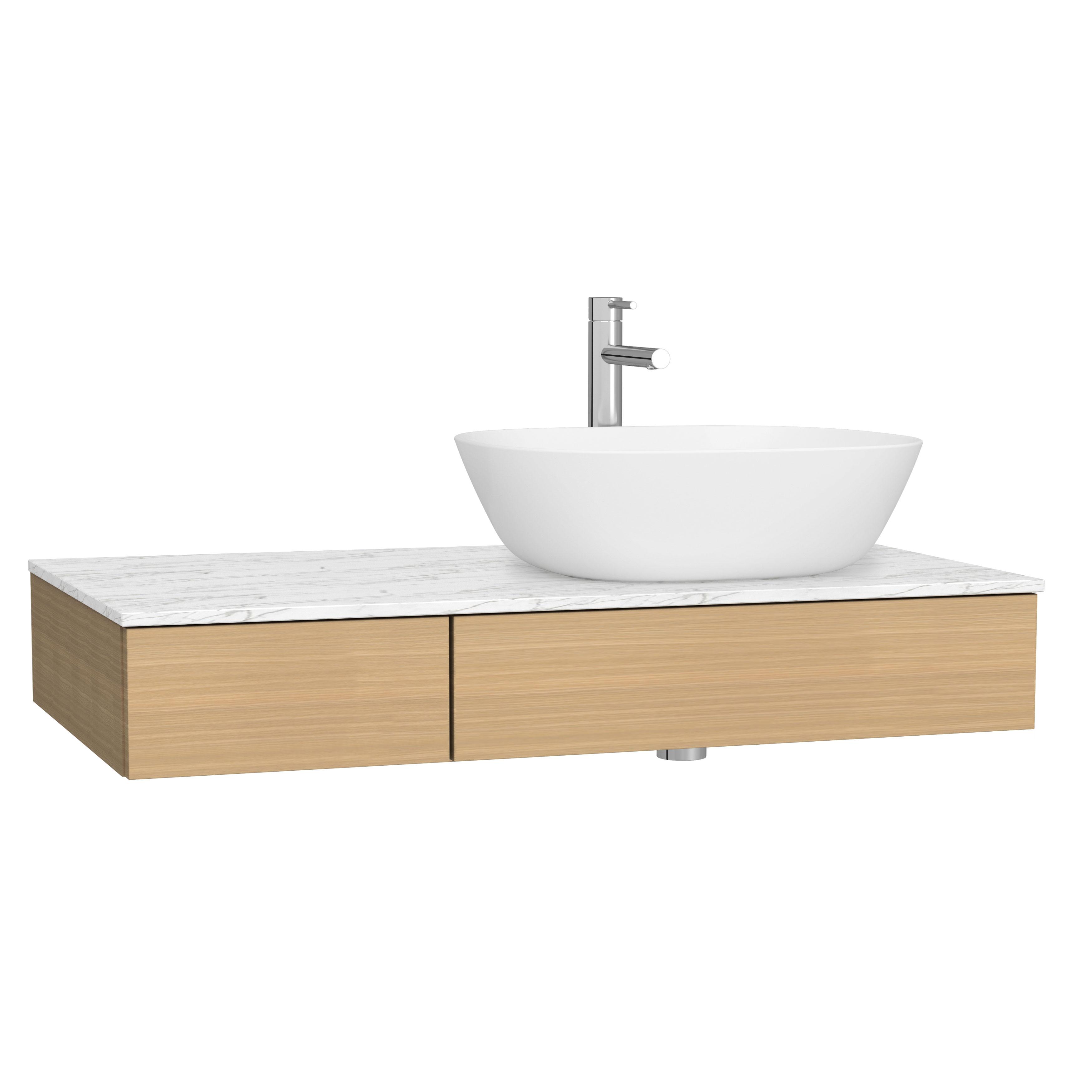 Origin plan de toilette avec tiroir, 90 cm, chêne ferrera, droite