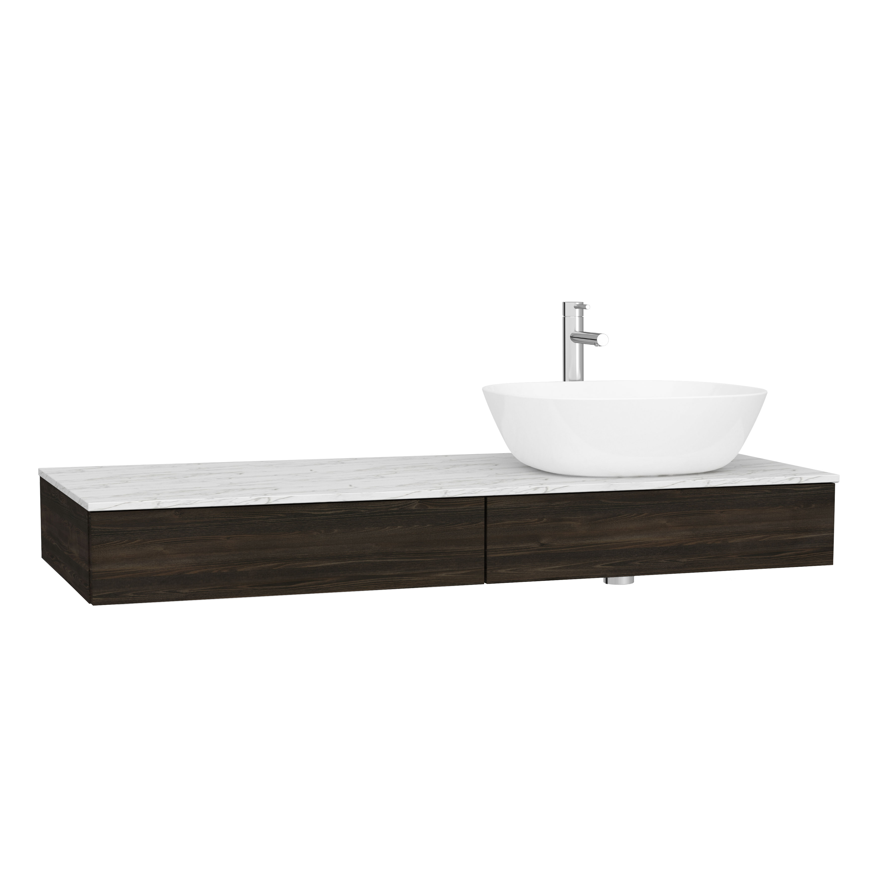 Origin plan de toilette avec tiroir, 120 cm, orme, droite