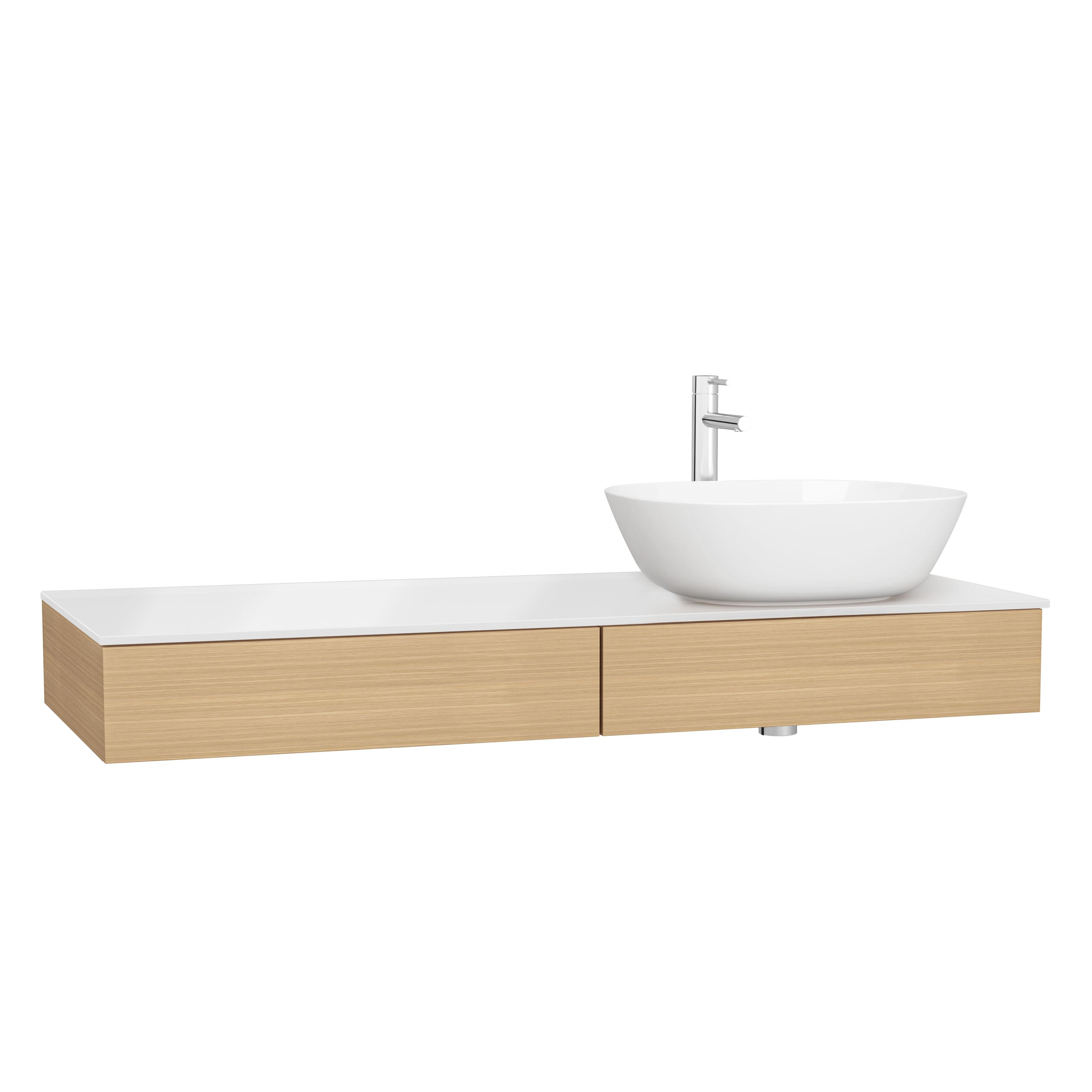 Origin plan de toilette avec tiroir, 120 cm, chêne ferrera, droite