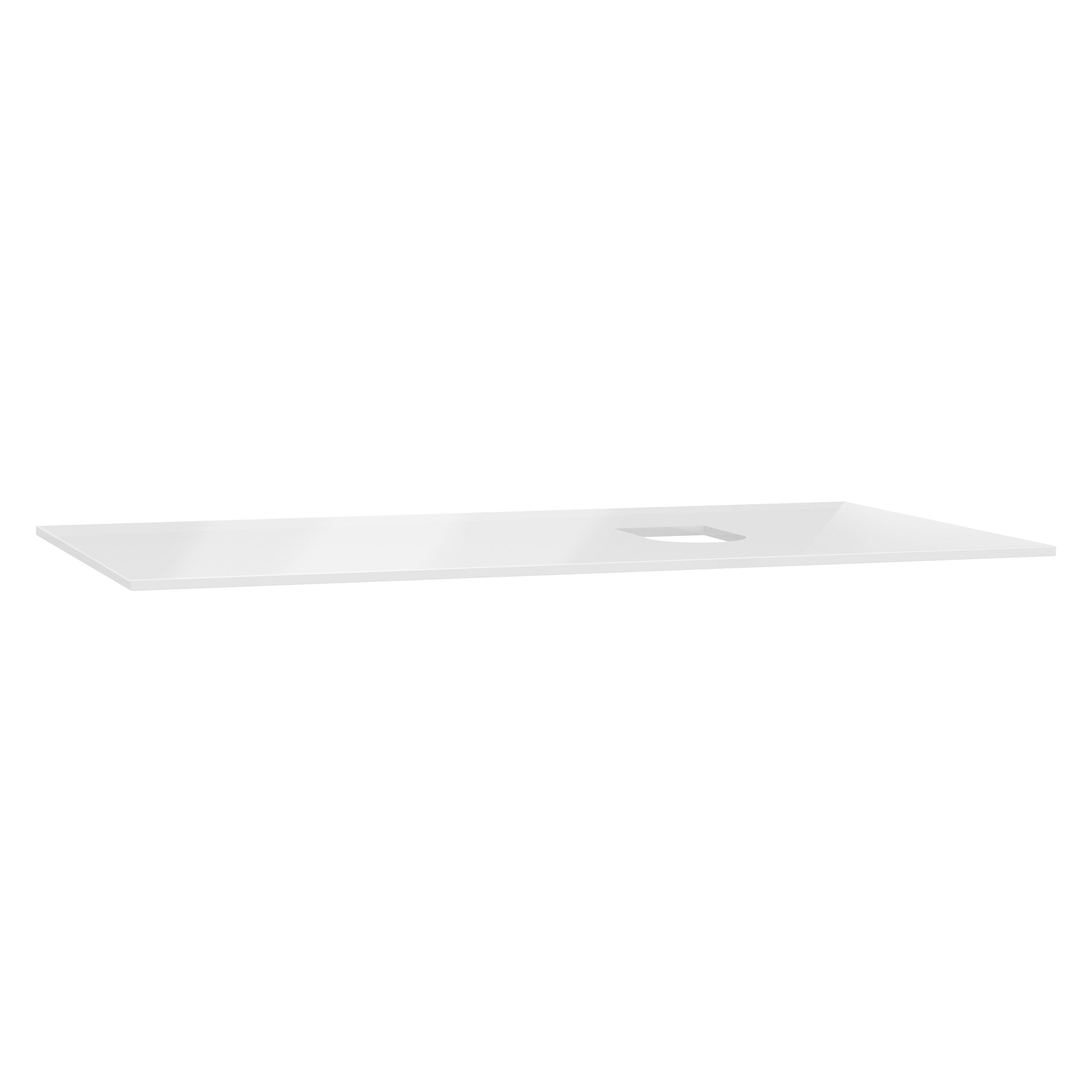 Origin plan de toilette, 90 cm, verre blanc, droite