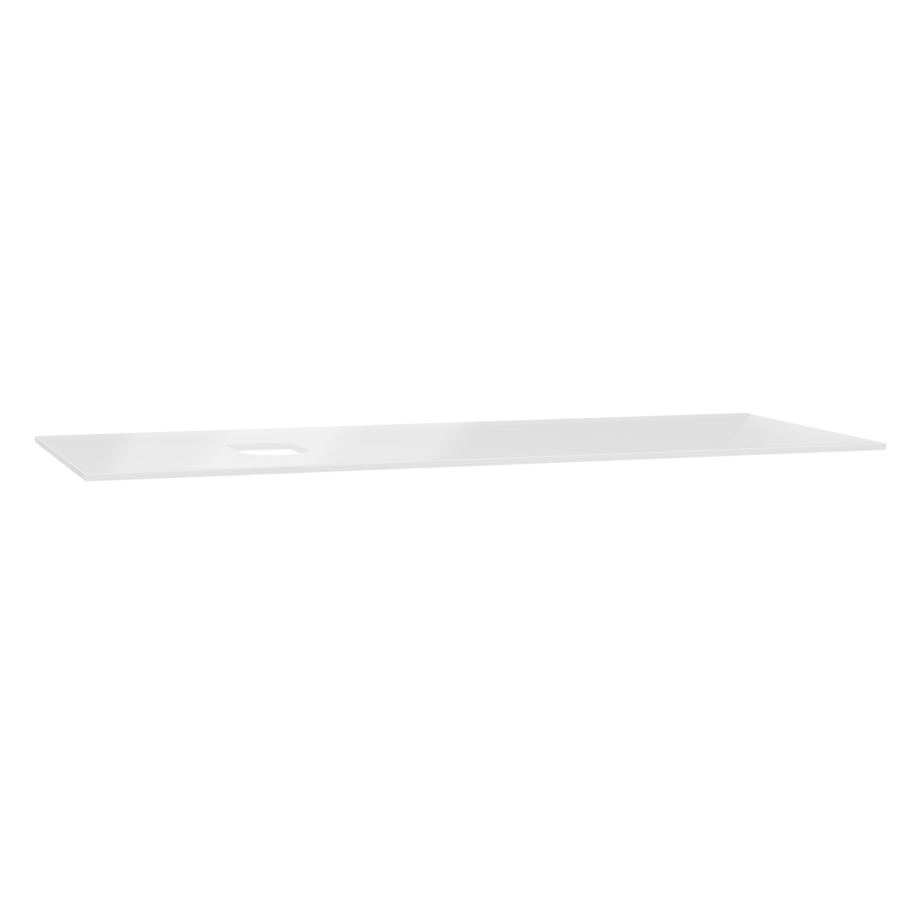 Origin plan de toilette, 120 cm, verre blanc, gauche