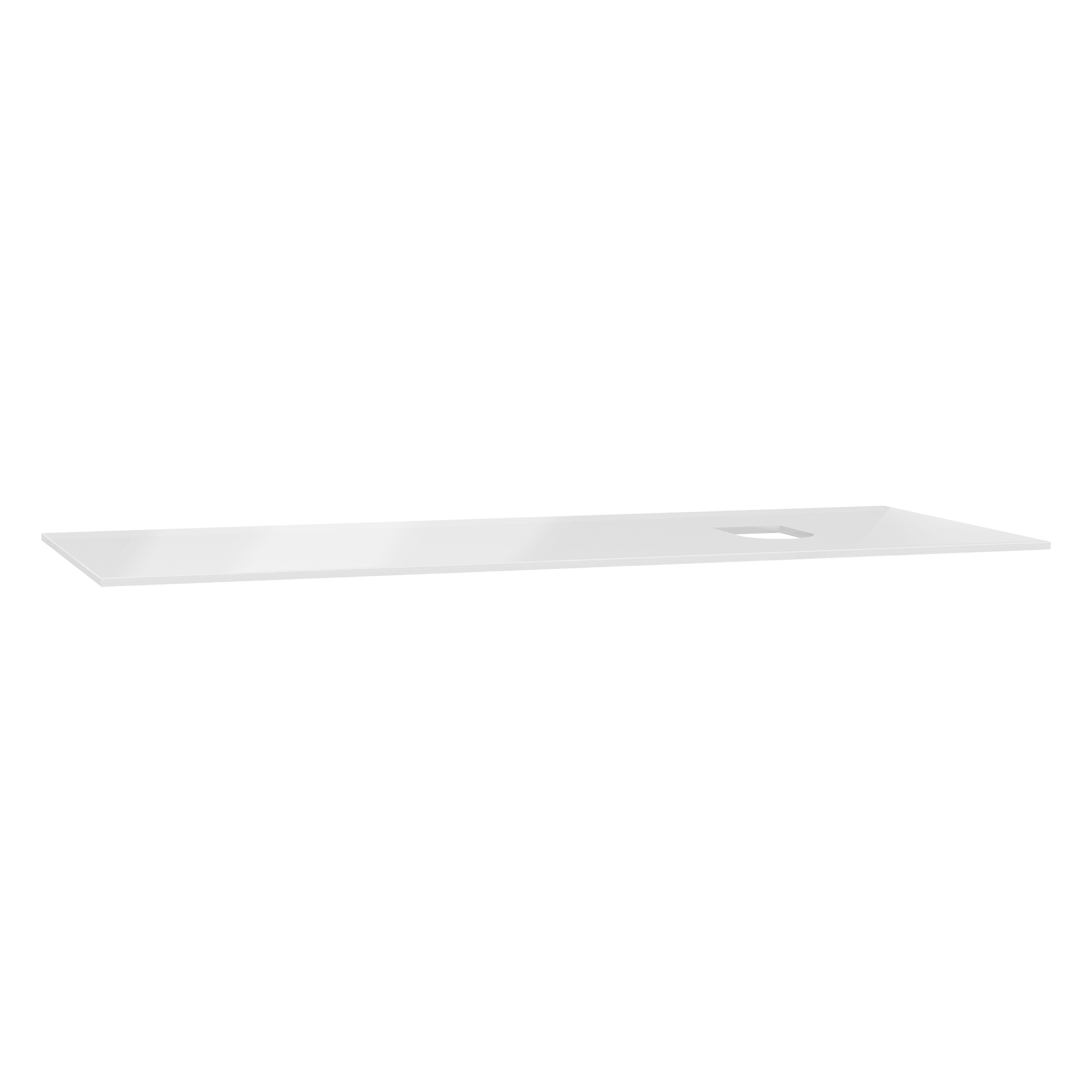 Origin plan de toilette, 120 cm, verre blanc, droite