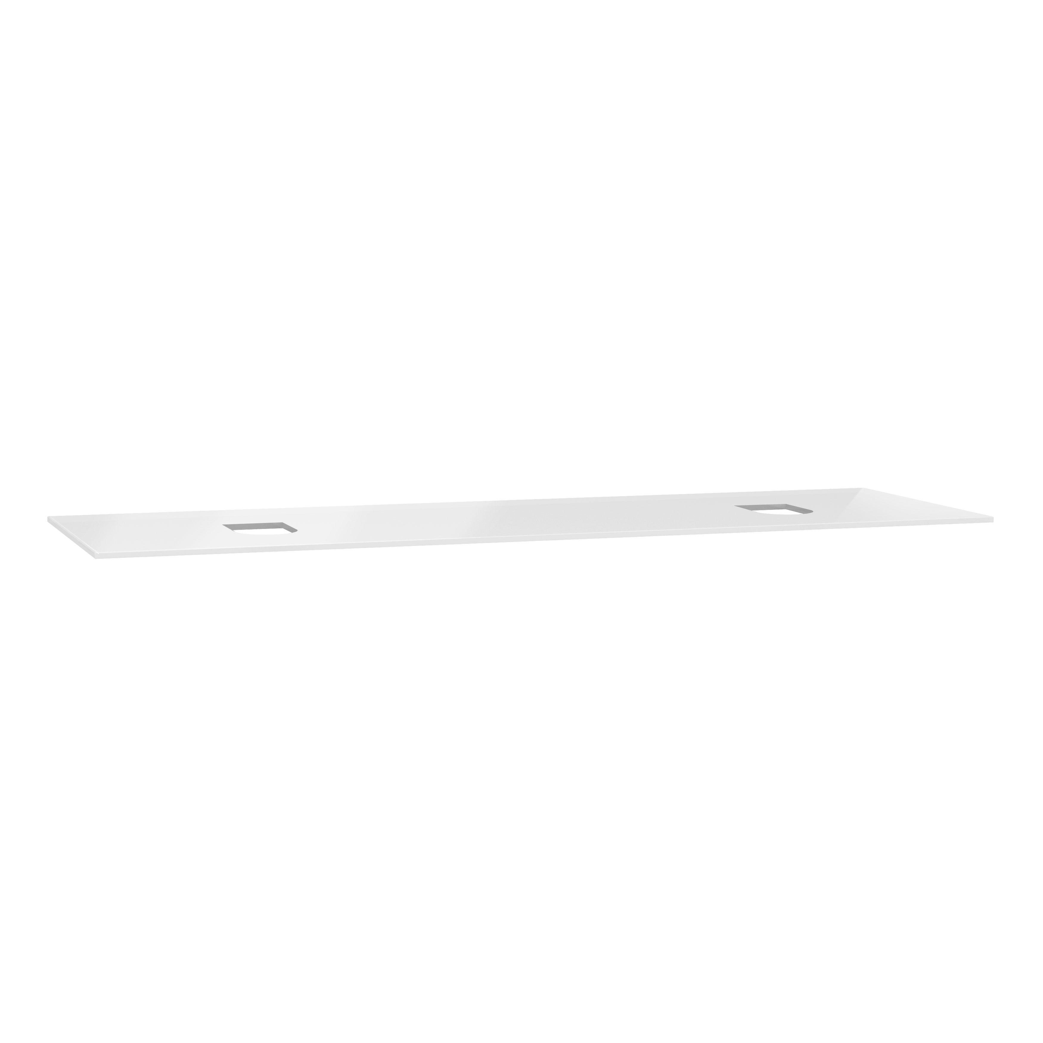 Origin plan de toilette, 150 cm, verre blanc, centre