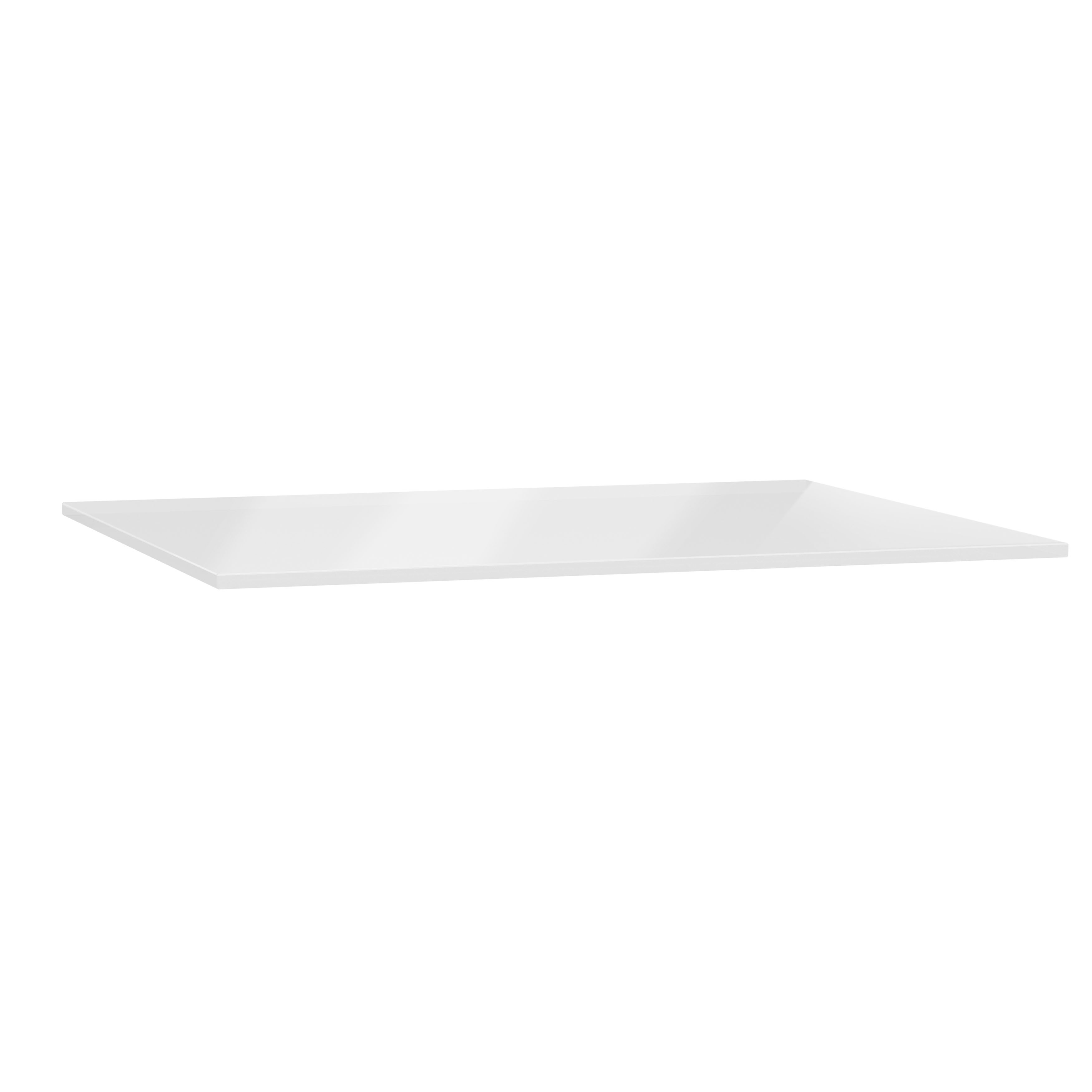 Origin plan de toilette, 150 cm, verre blanc