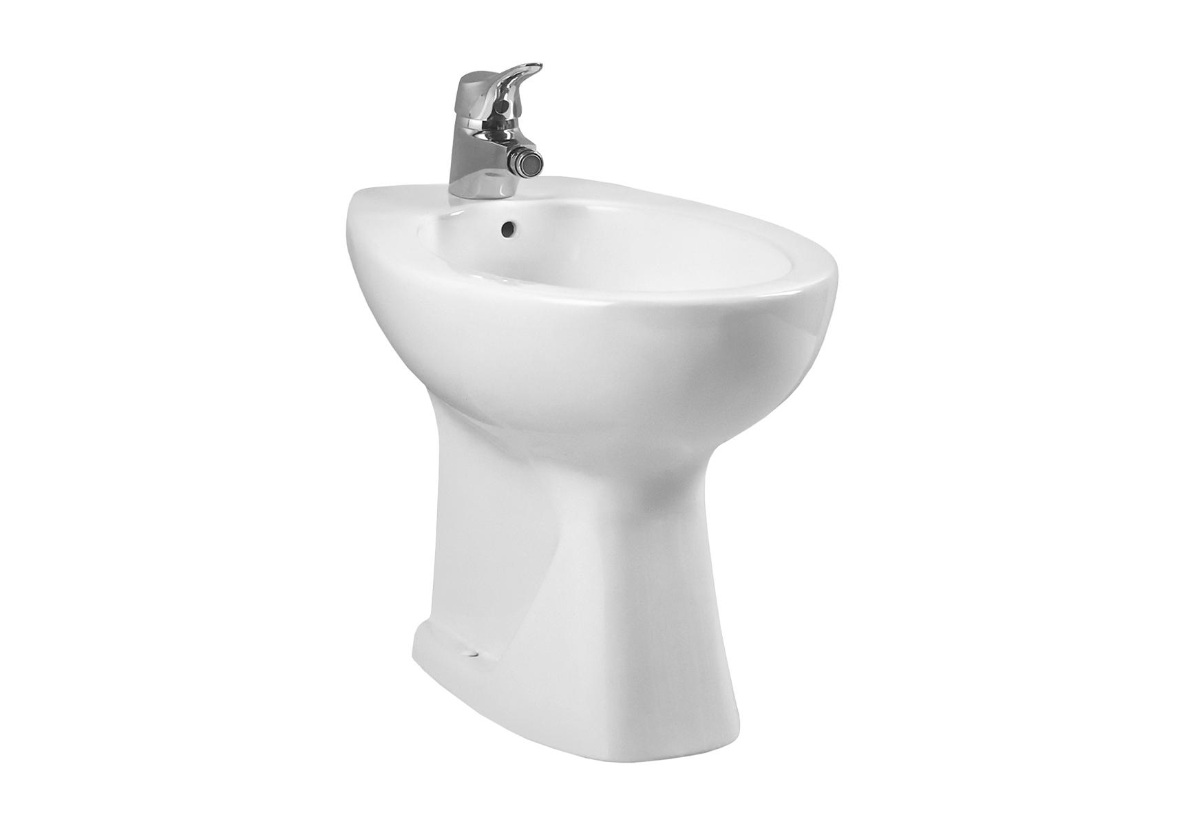 Normus bidet à poser, 54,5 cm, avec trop-plein, 1 trou de robinet central