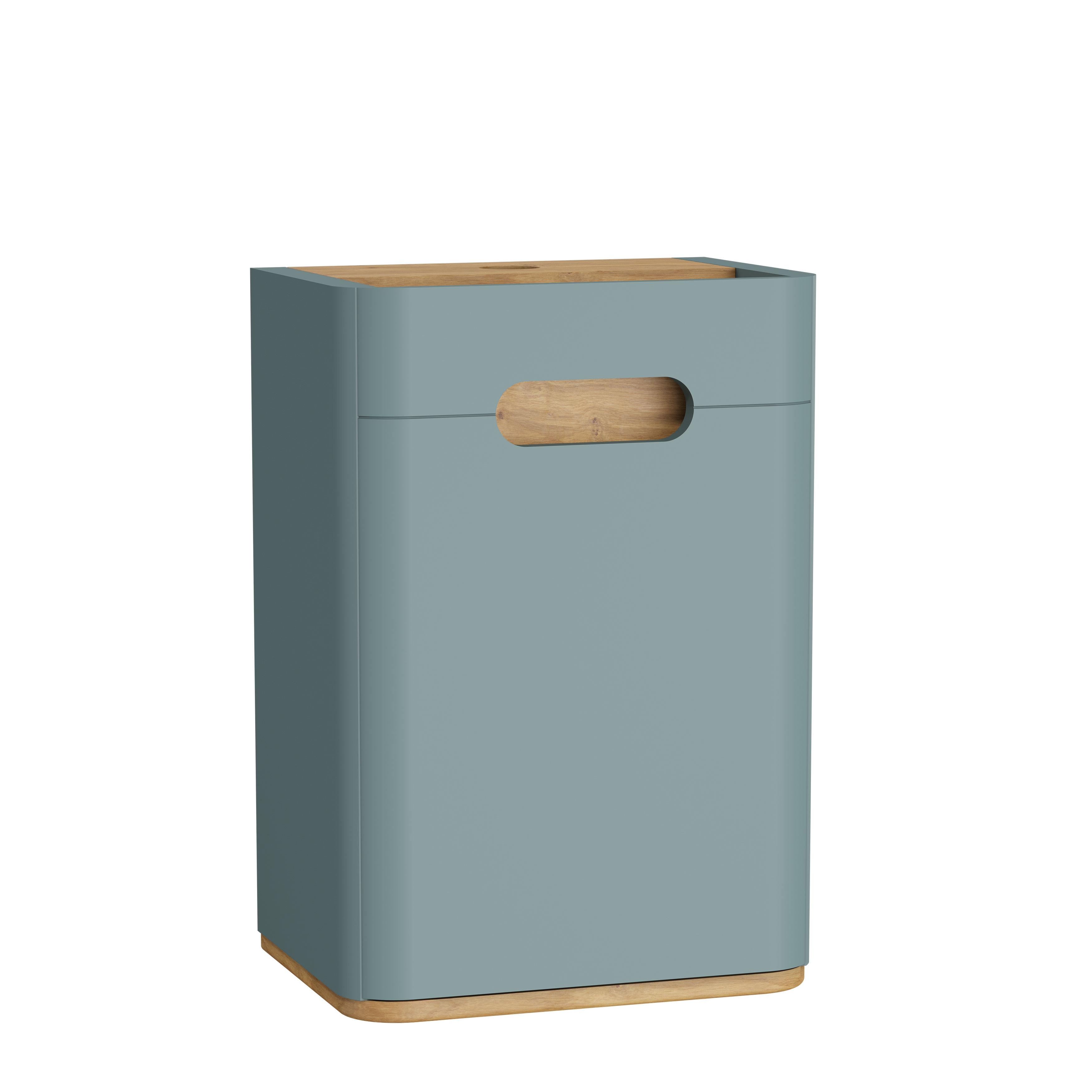 Sento armoire mi-haute, 40 cm, vert fjord mat, charnière à droite