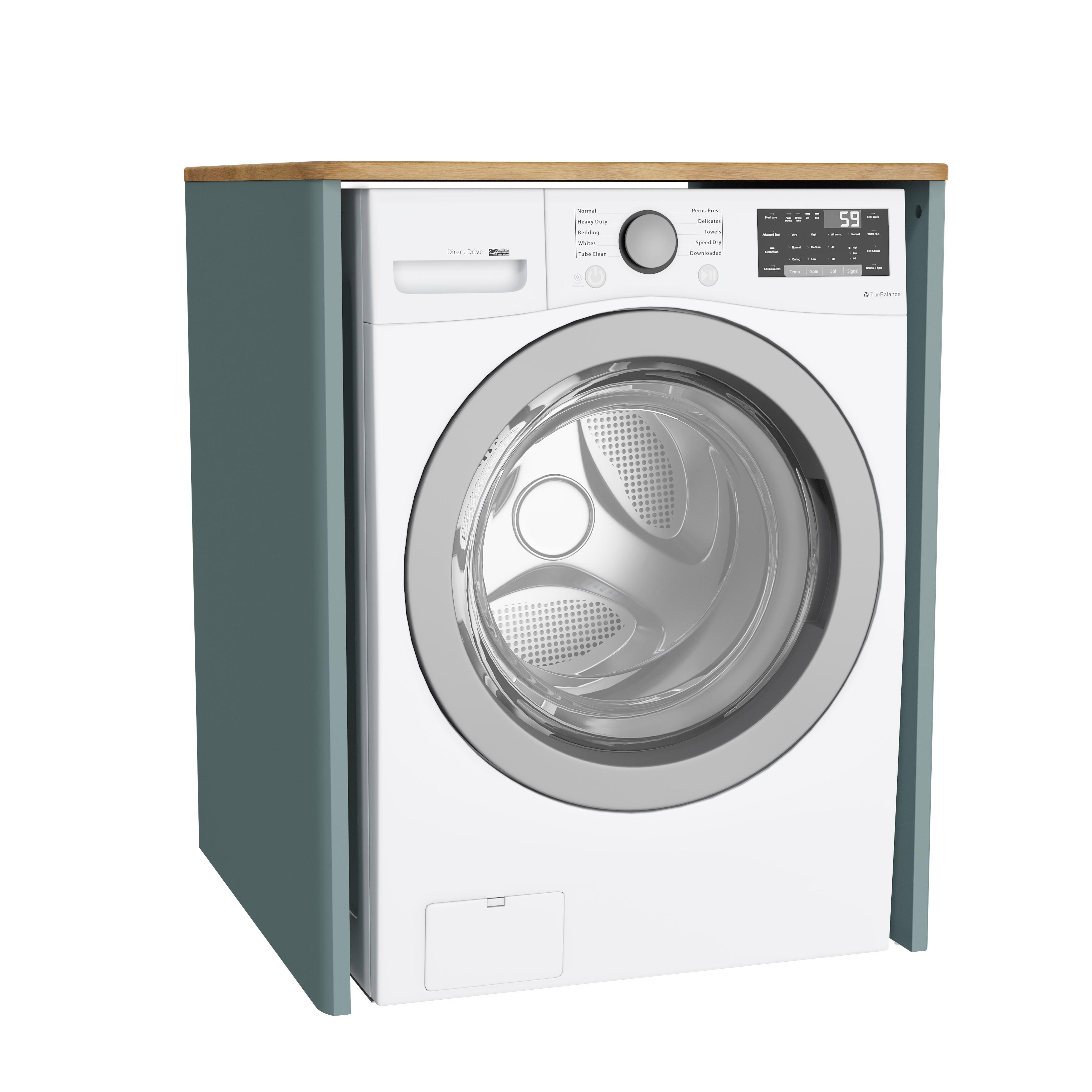 Sento unité lave-linge, sans corbeille à linge, 70 cm, vert fjord mat
