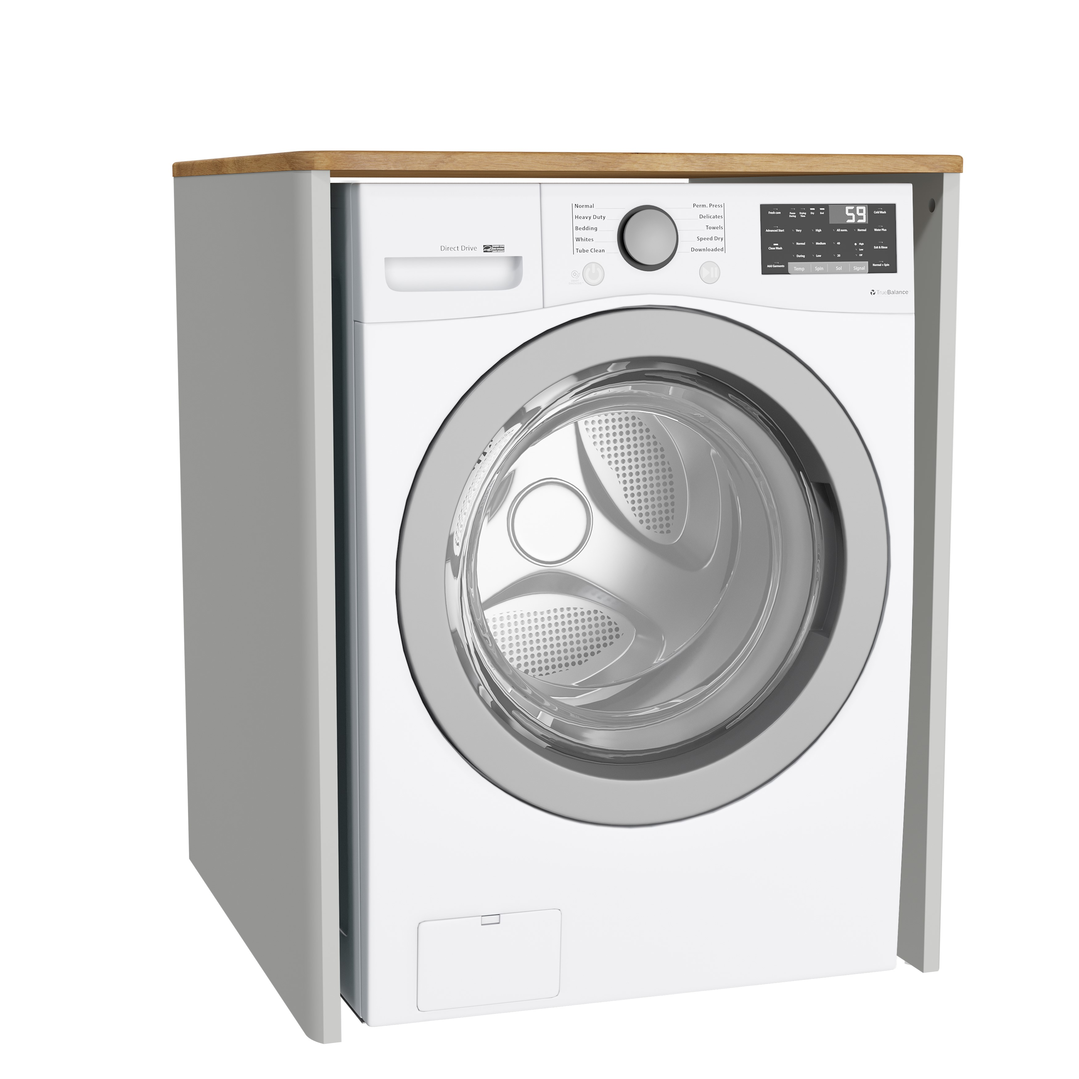 Sento unité lave-linge, sans corbeille à linge, 70 cm, gris clair mat