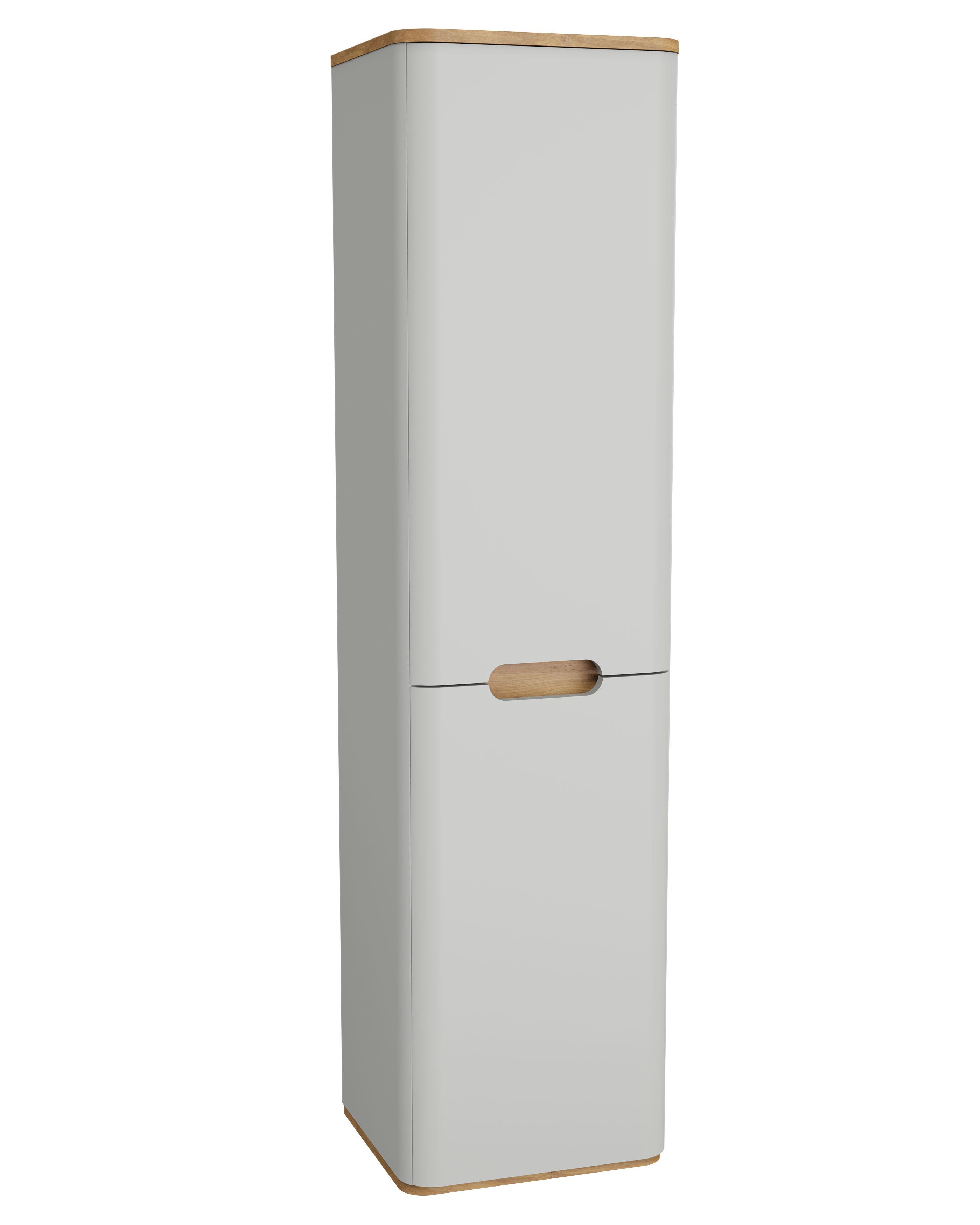 Sento armoire haute, prise, 2 portes, charnière à droite, 40 cm, gris clair mat