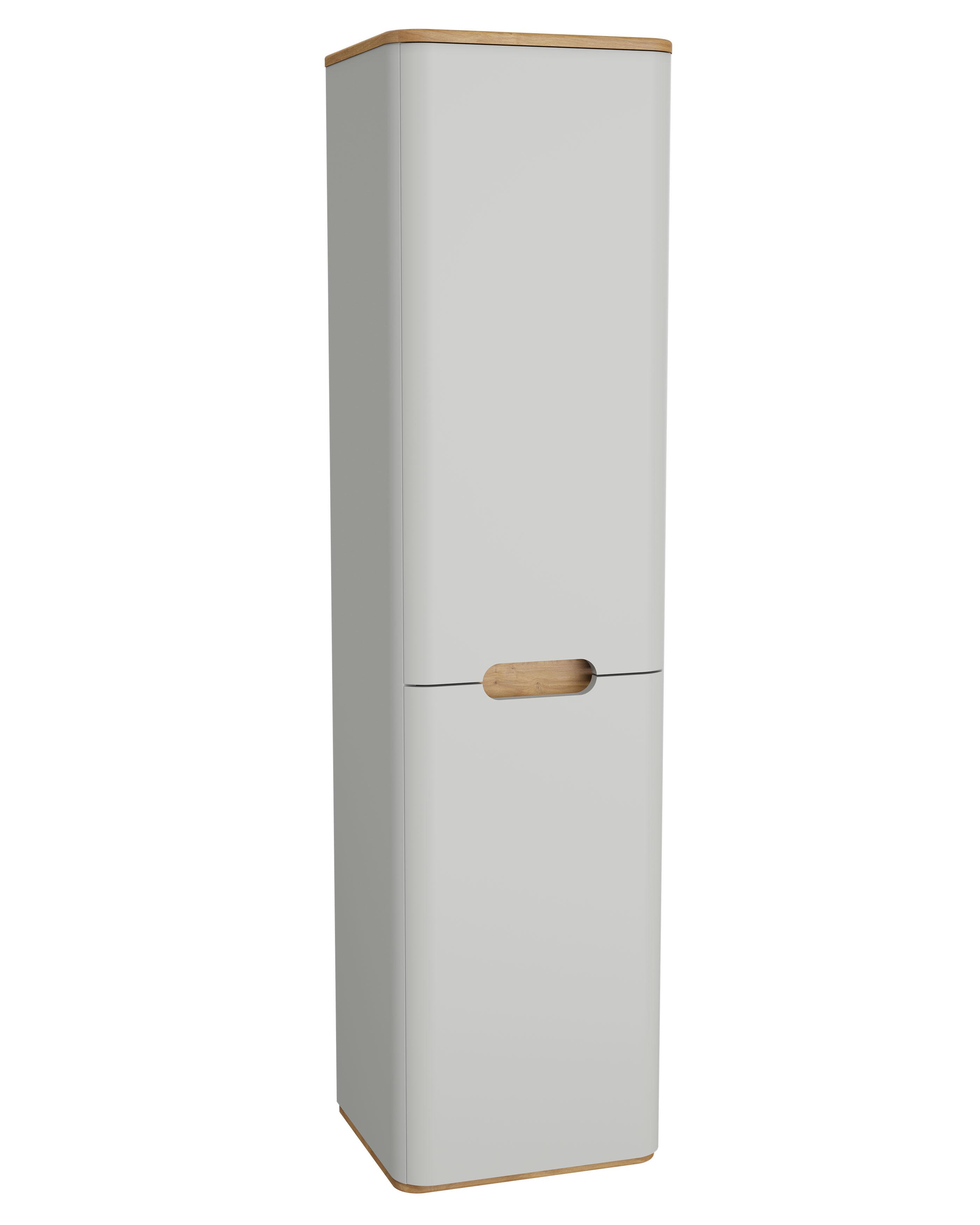 Sento armoire haute, 2 portes, charnière à gauche, 40 cm, gris clair mat