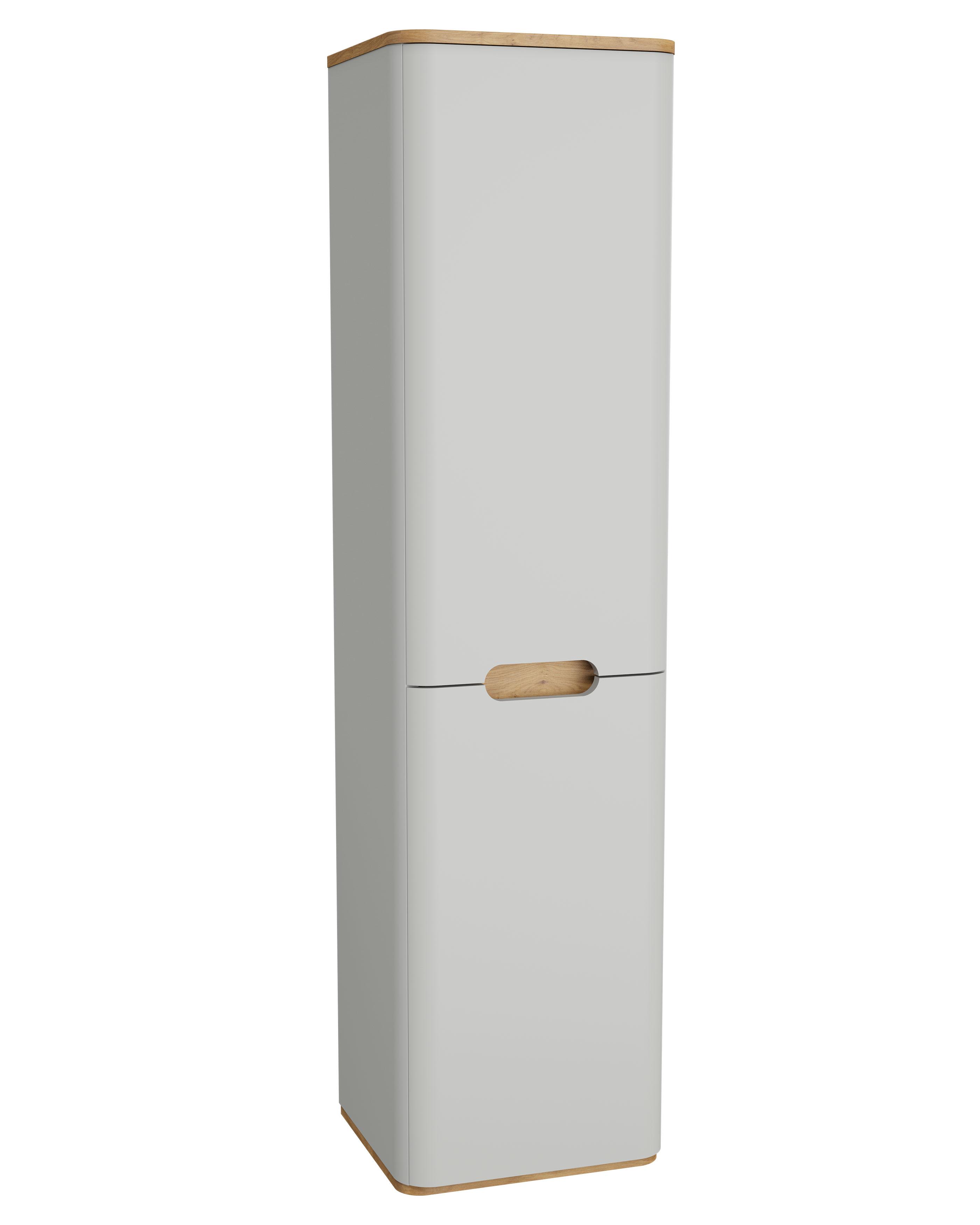 Sento armoire haute, 2 portes, charnière à droite, 40 cm, gris clair mat