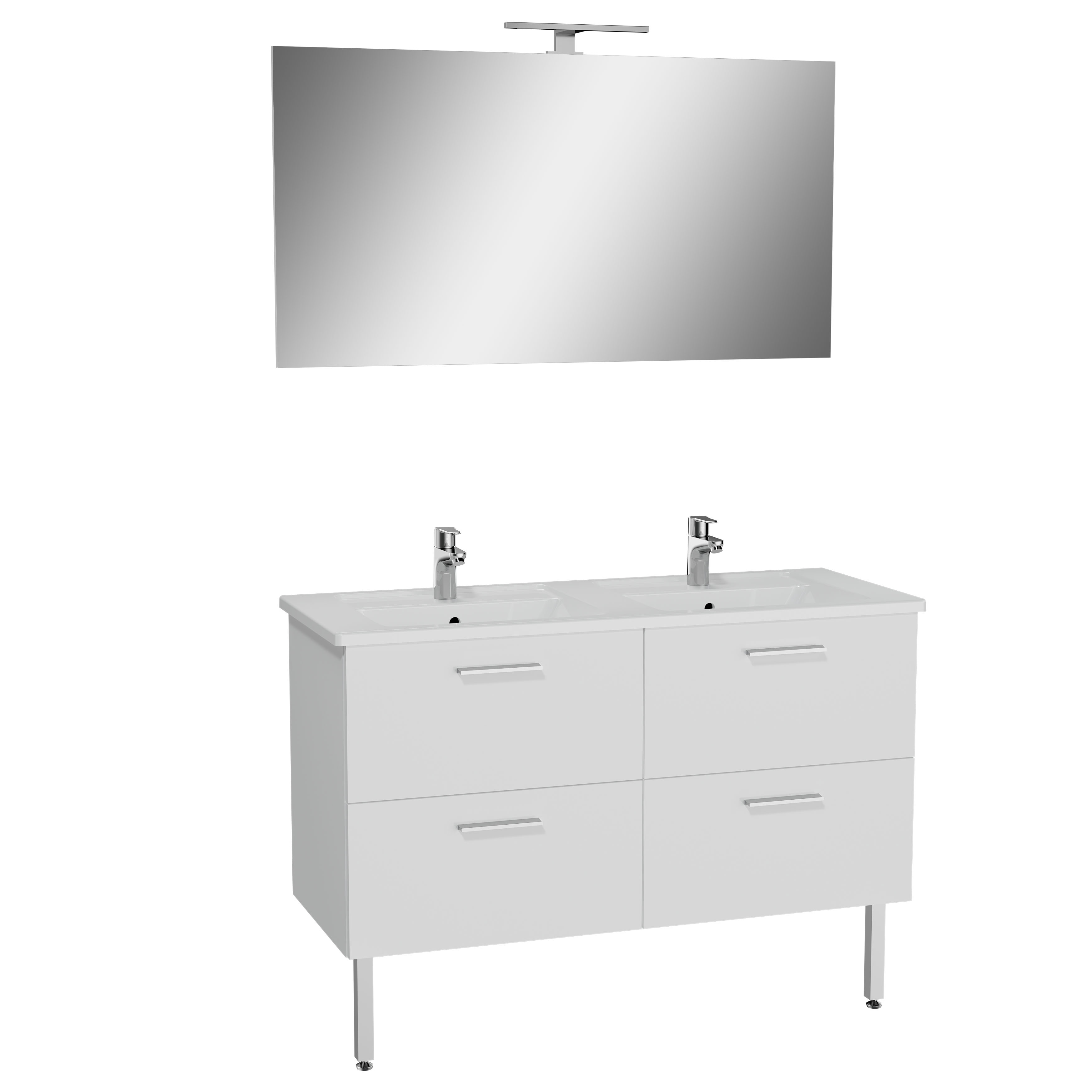 Mia set de meuble, avec 4 tiroirs, 120 cm, blanc