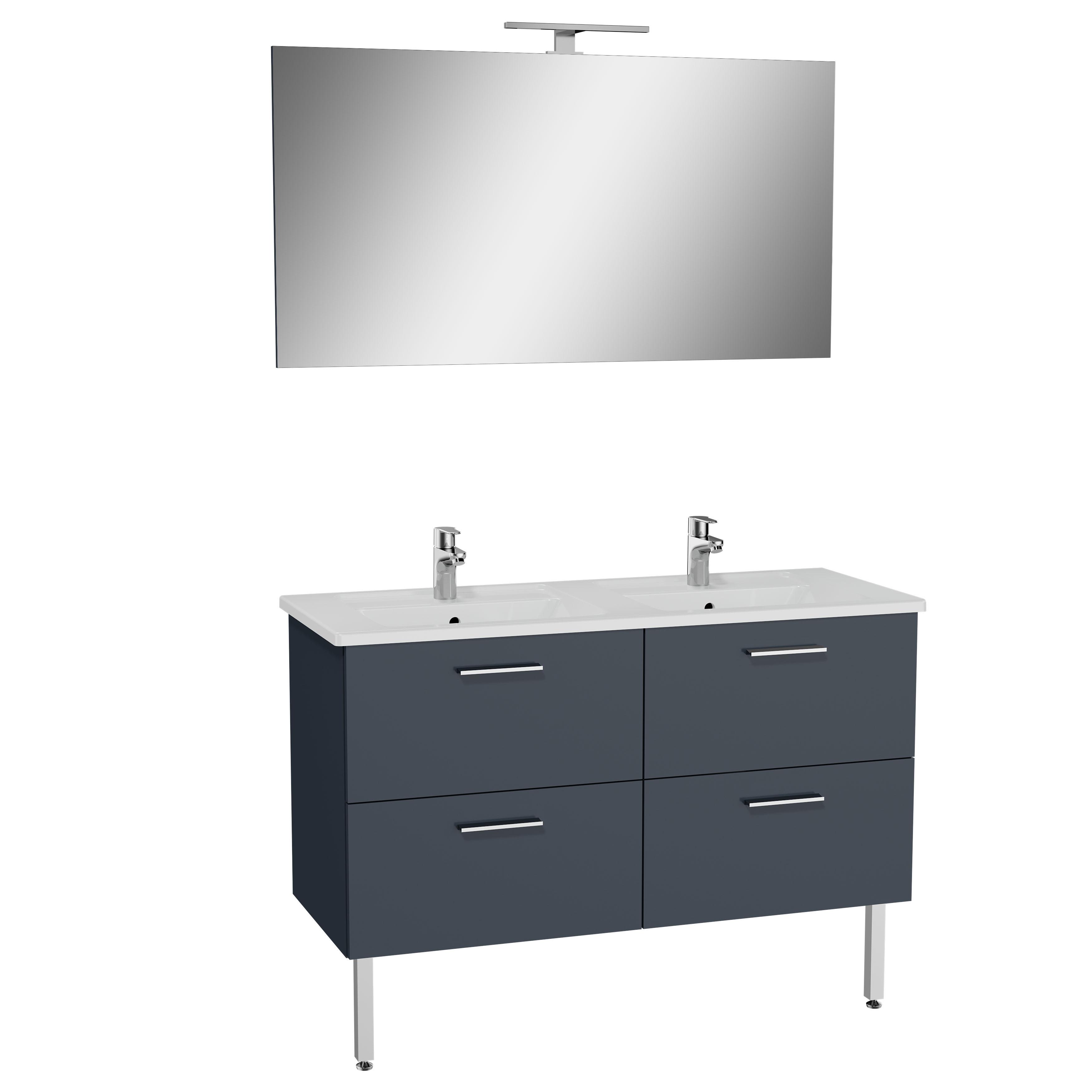 Mia set de meuble, avec 4 tiroirs, 120 cm, anthraciteacite