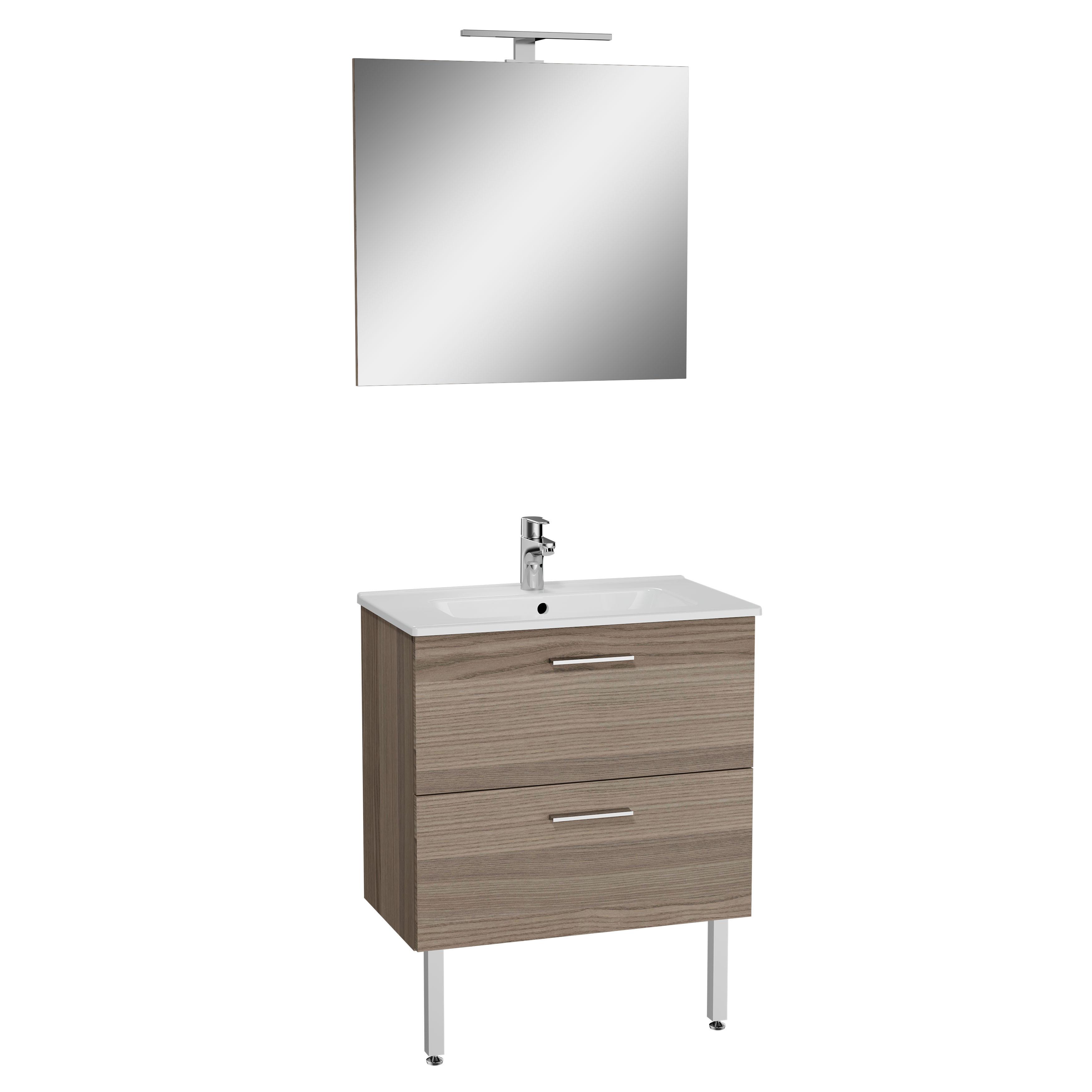 Mia set de meuble, avec 2 tiroirs, 70 cm, cordoba
