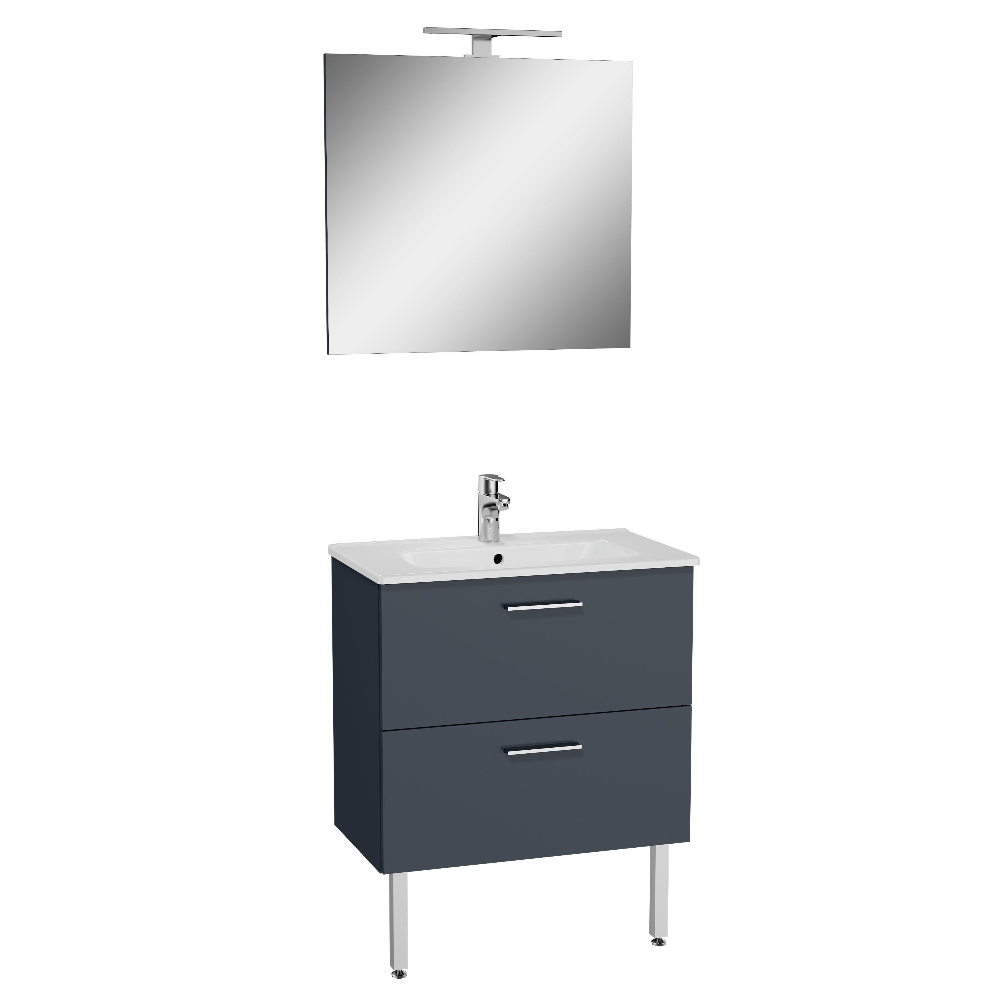 Mia set de meuble, avec 2 tiroirs, 70 cm, anthraciteacite