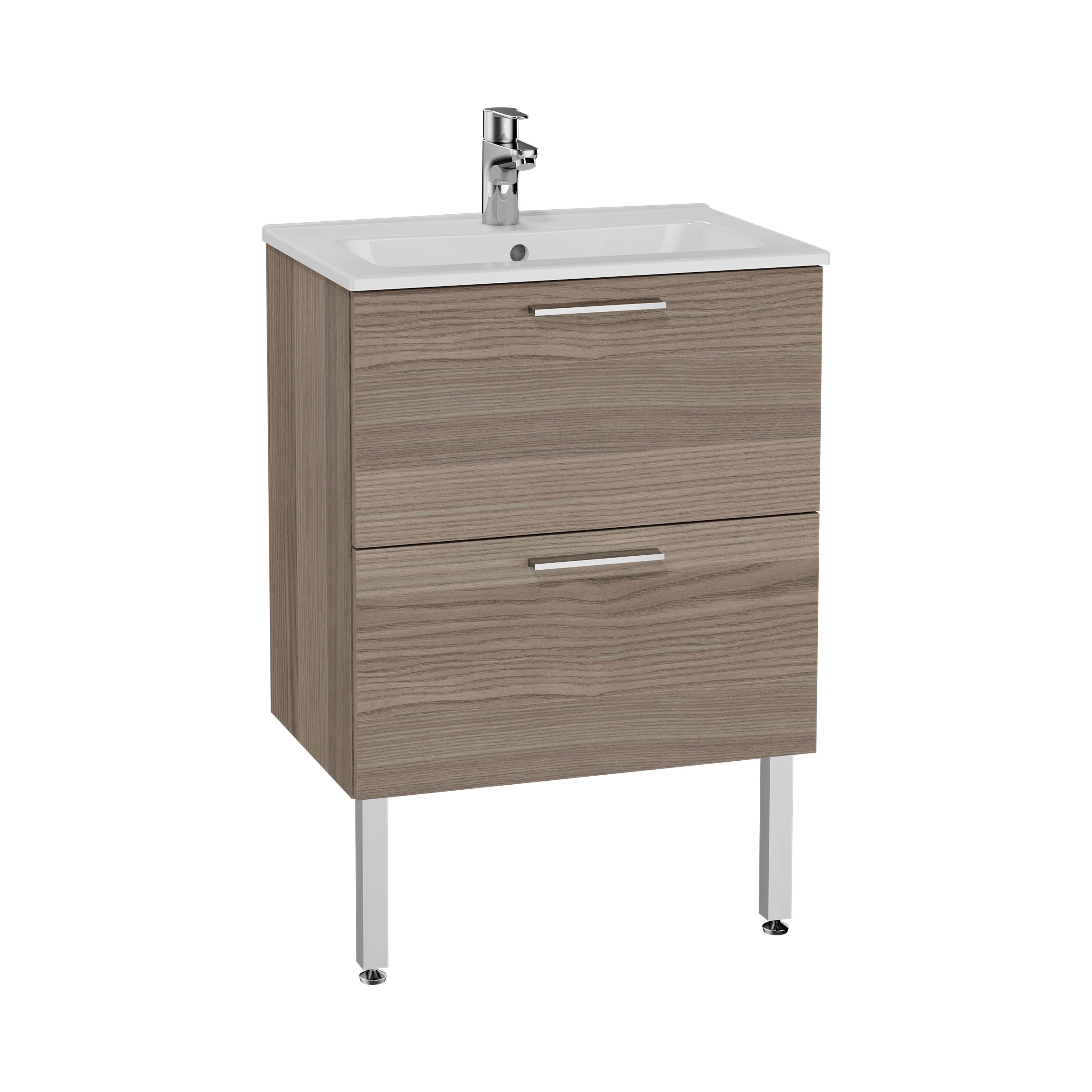 Mia set de meuble, avec 2 tiroirs, sans miroir et éclairage, 60 cm, cordoba