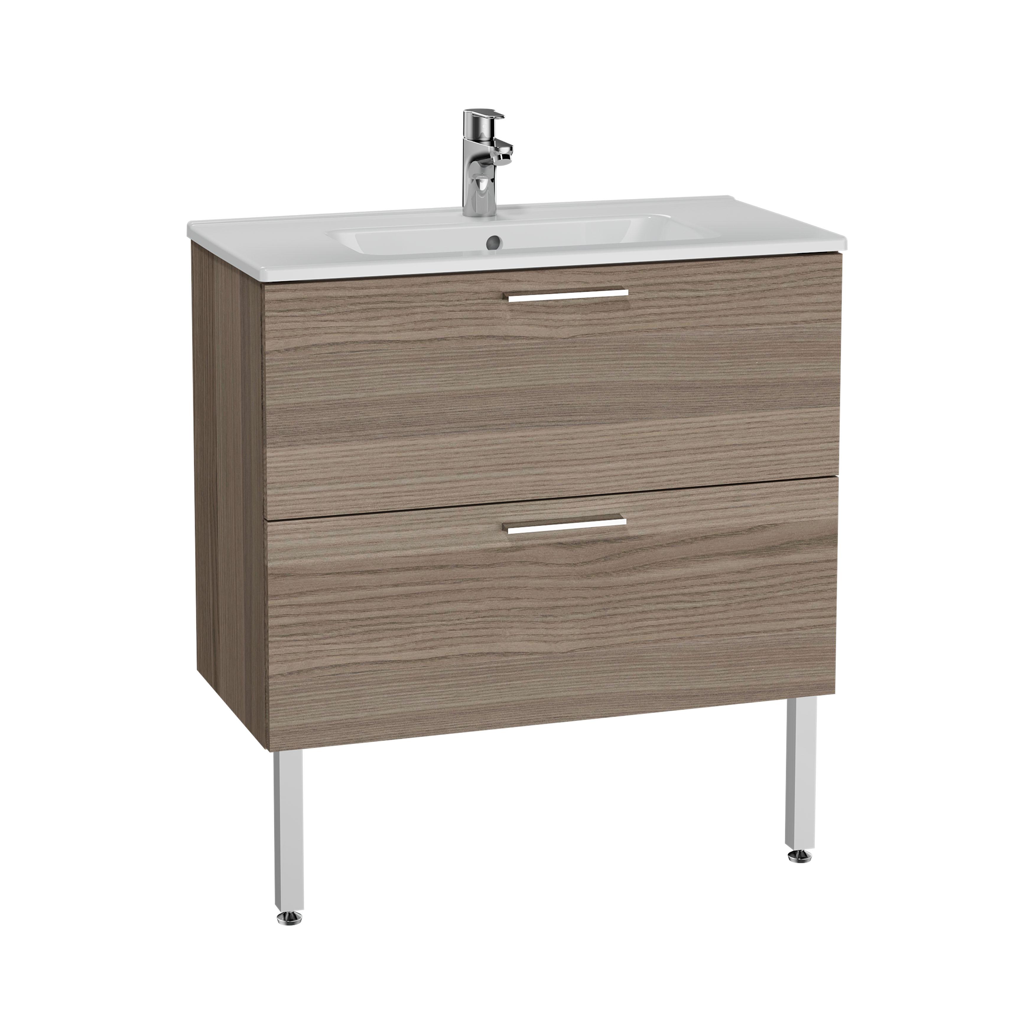 Mia set de meuble, avec 2 tiroirs, sans miroir et éclairage, 80 cm, cordoba