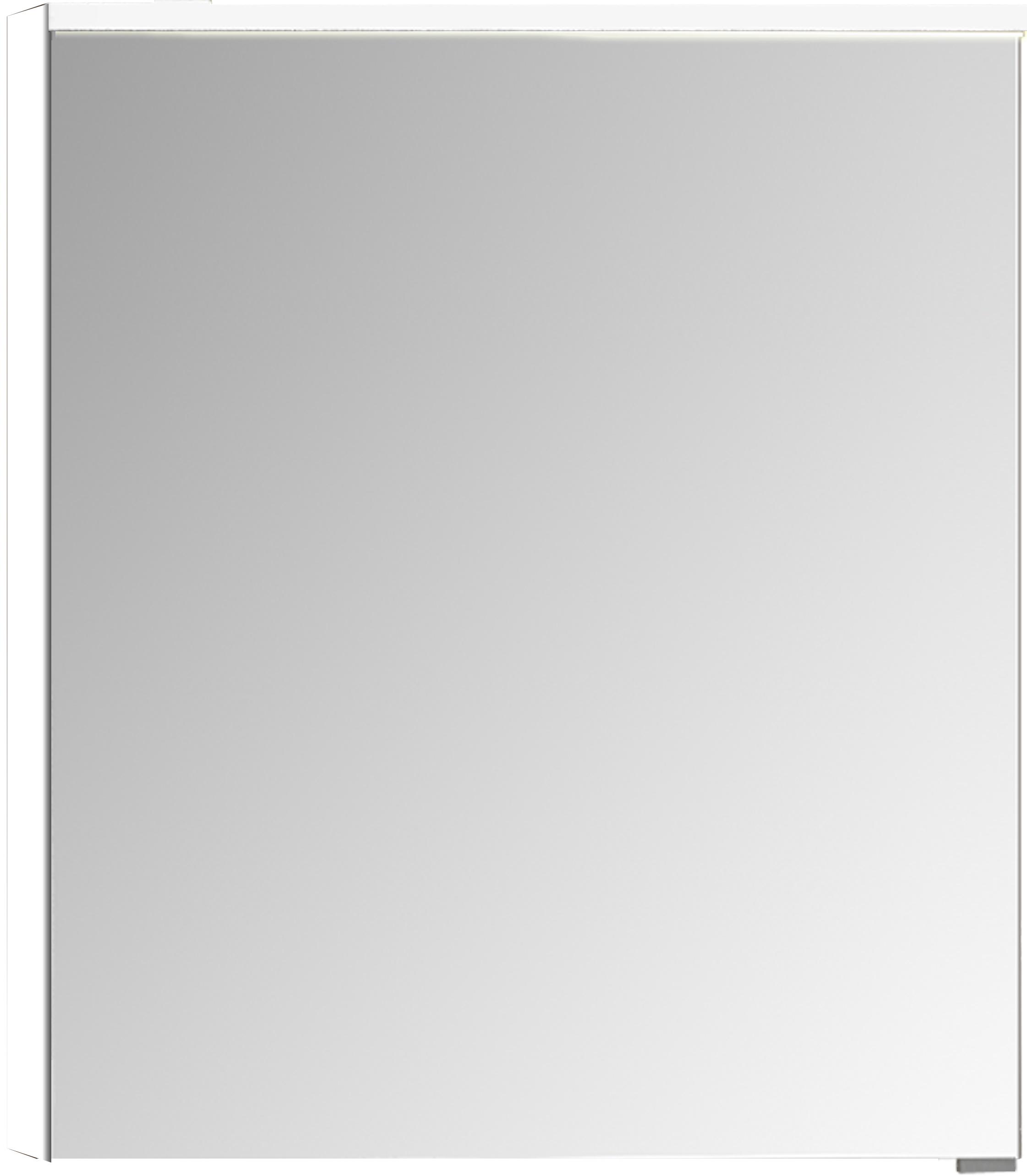 Sento Premium armoire de toilette, éclairage LED horizontale, 60 cm, gris clair mat, gauche