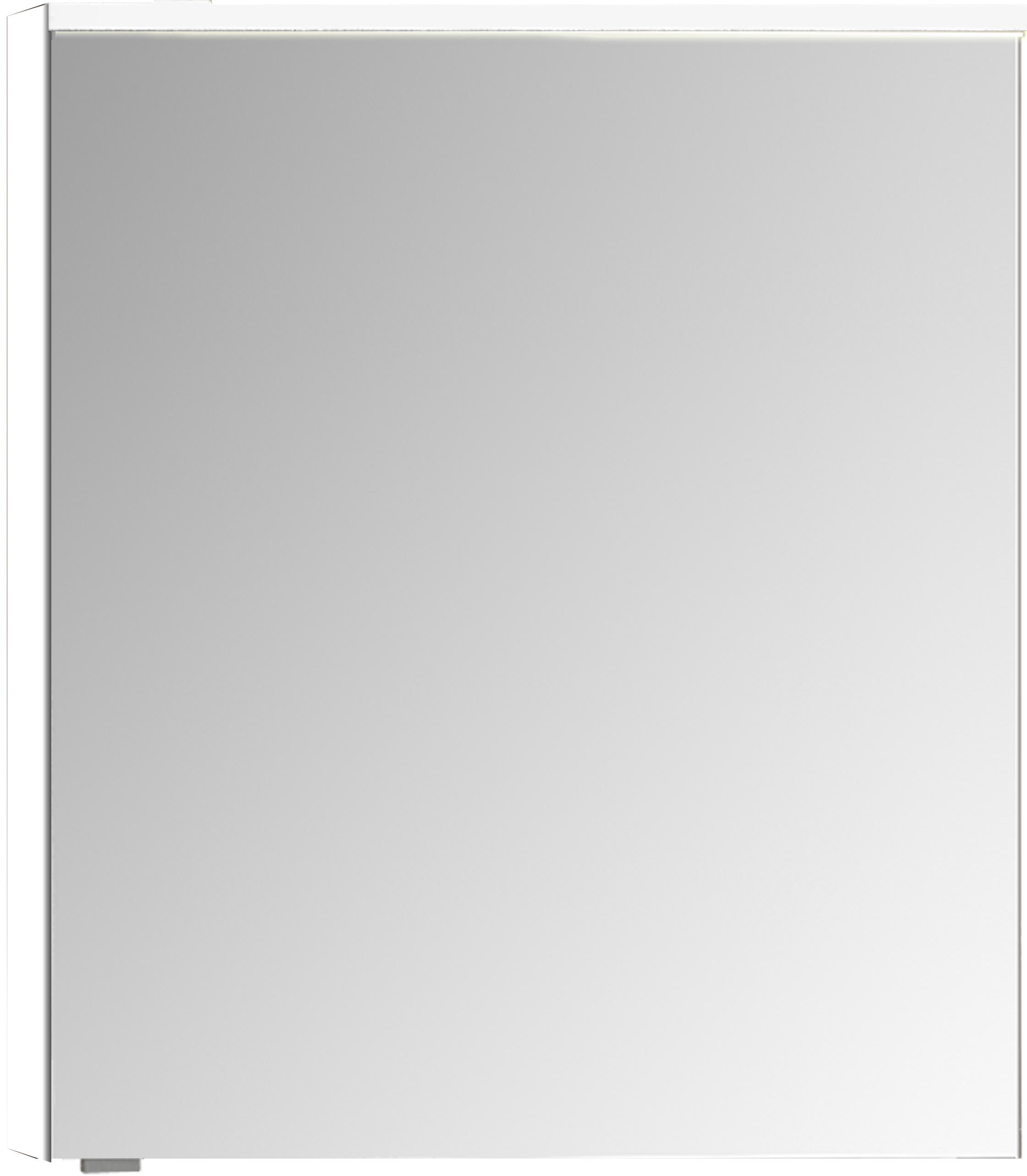 Sento Premium armoire de toilette, éclairage LED horizontale, 60 cm, gris clair mat, droite