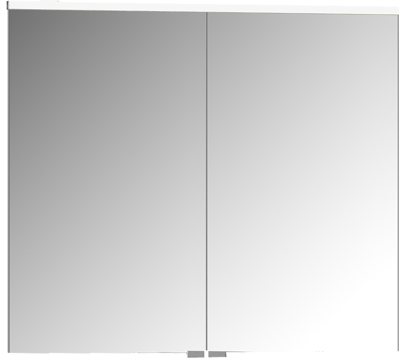 Sento Premium armoire de toilette, éclairage LED horizontale, 80 cm, gris clair mat