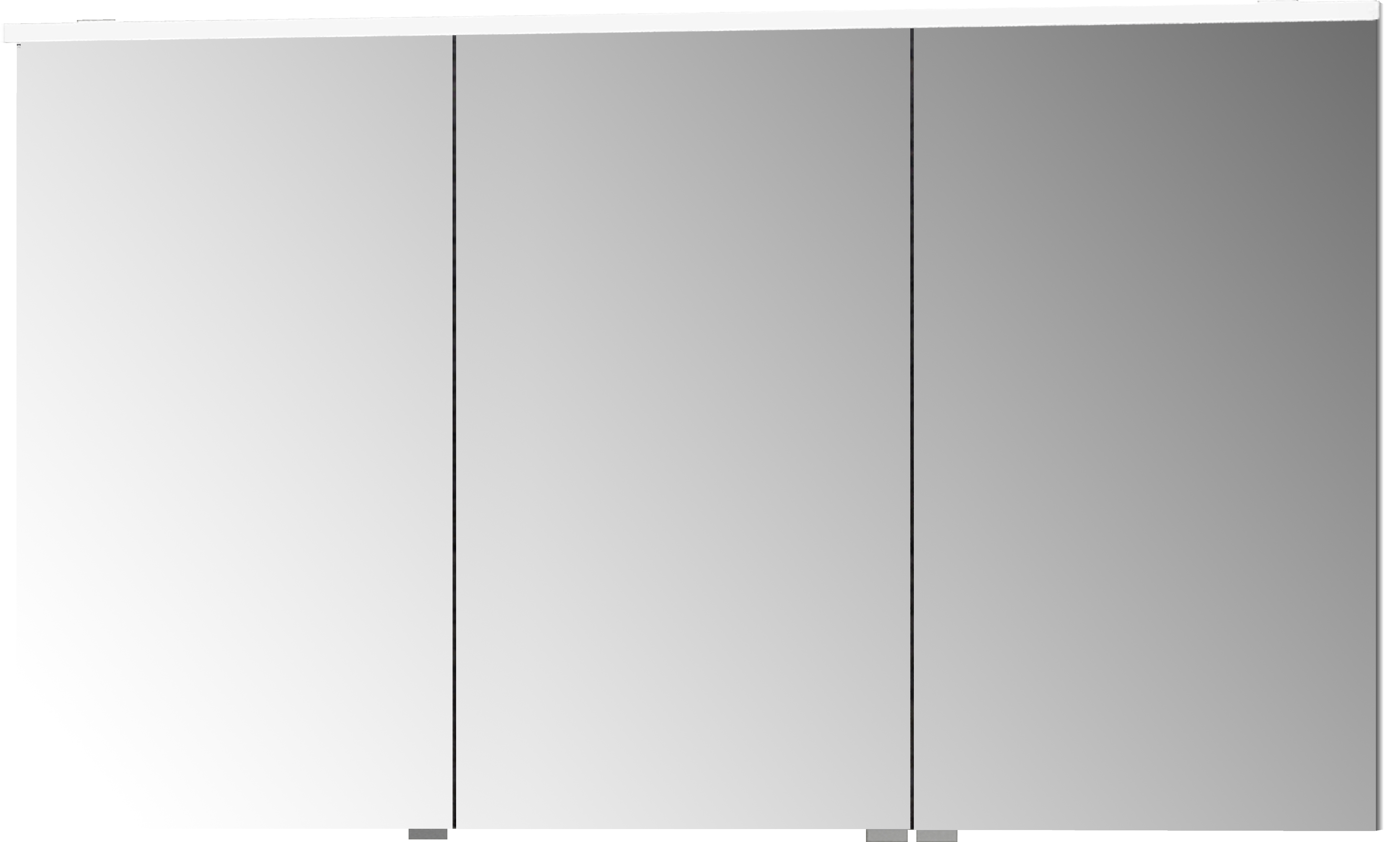 Sento Premium armoire de toilette, éclairage LED horizontale, 120 cm, gris clair mat
